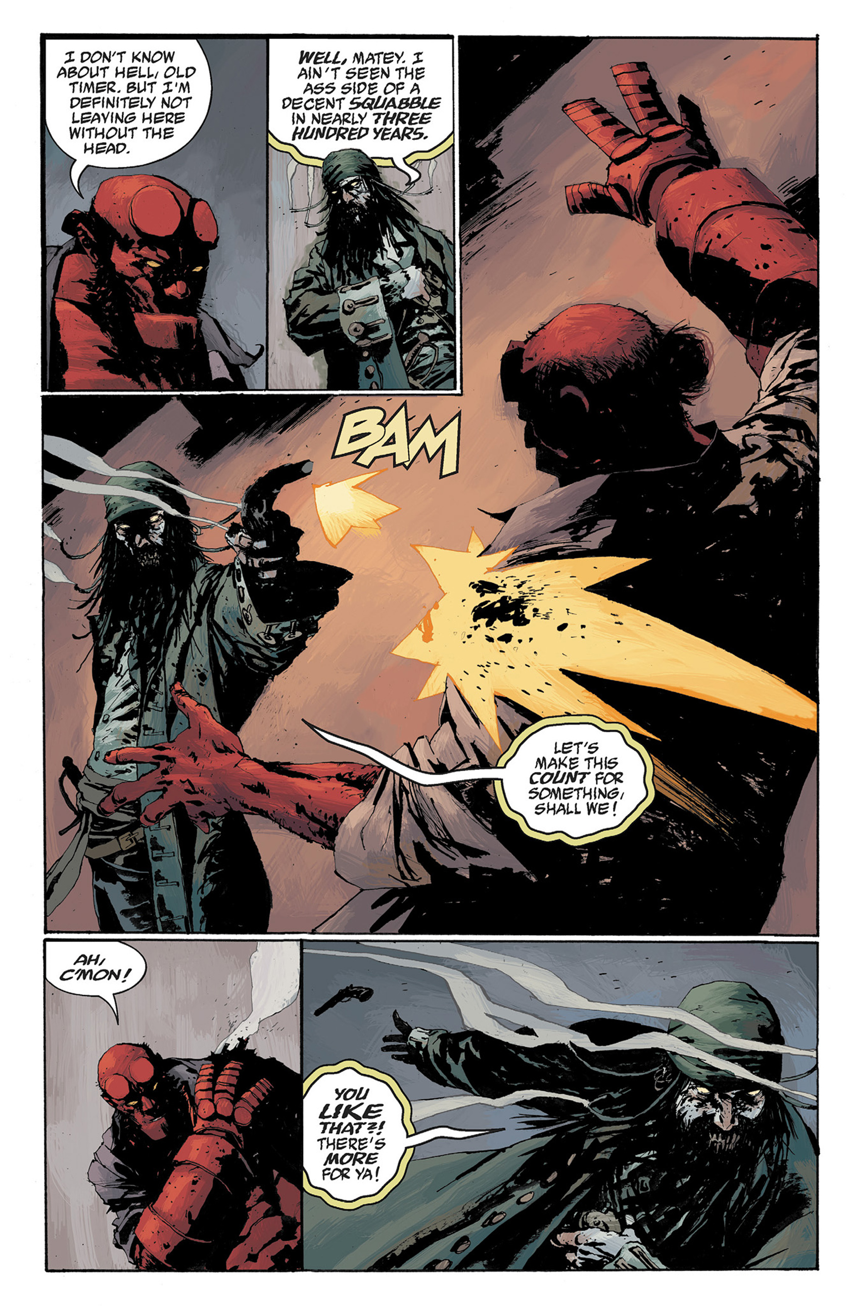 Read online Hellboy: The Crooked Man and Others comic -  Issue # TPB - 100