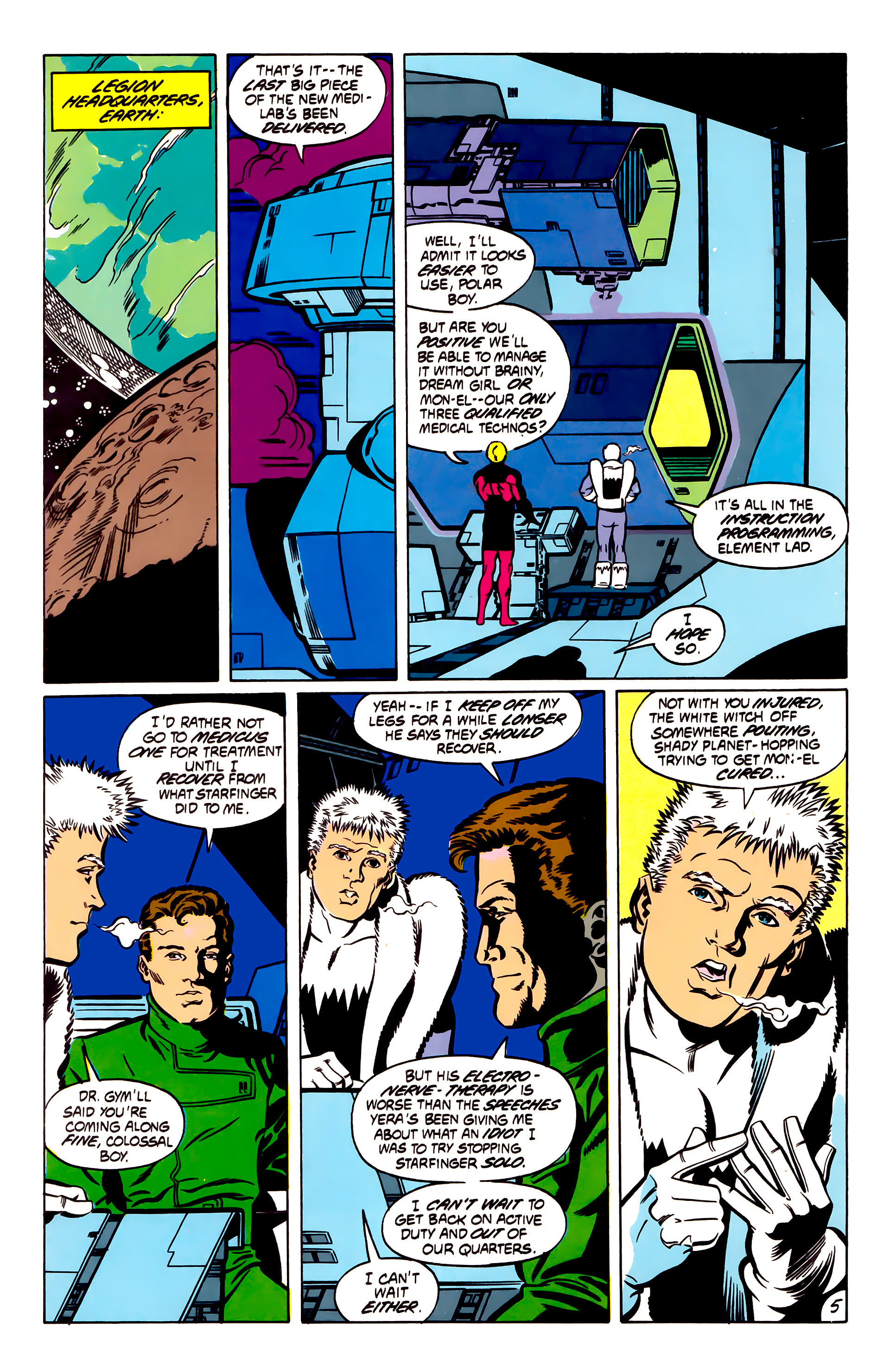 Legion of Super-Heroes (1984) 53 Page 5