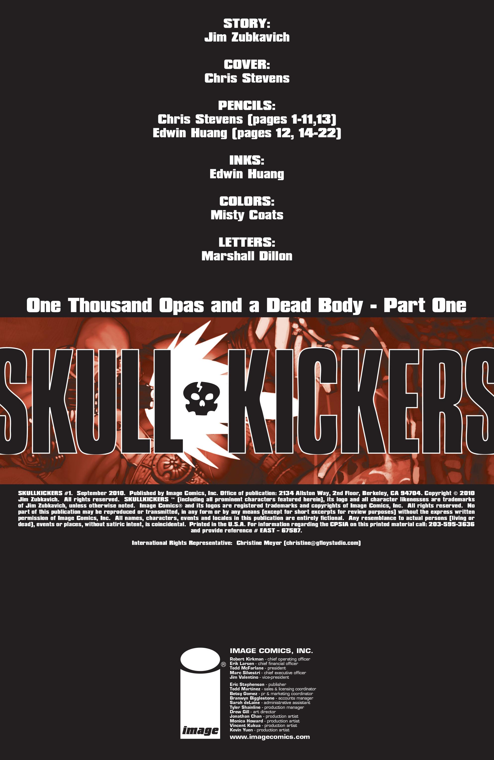 Read online Skullkickers comic -  Issue #1 - 2