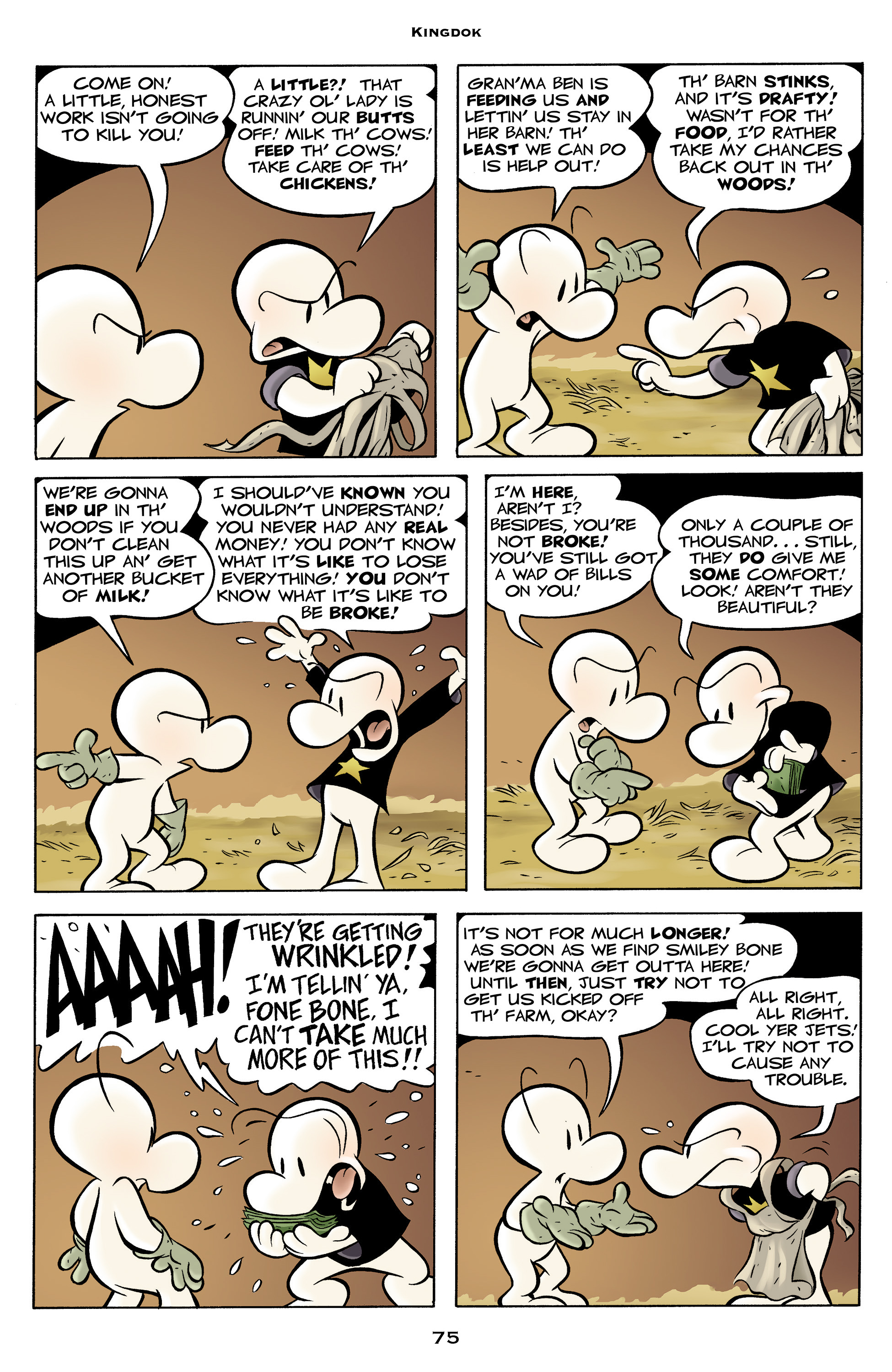 Read online Bone: Out From Boneville comic -  Issue # TPB - 75