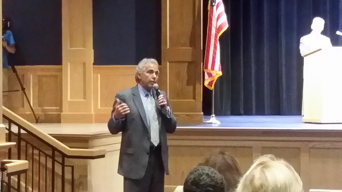 Rep John Fernandes, Milford provides an update to the group