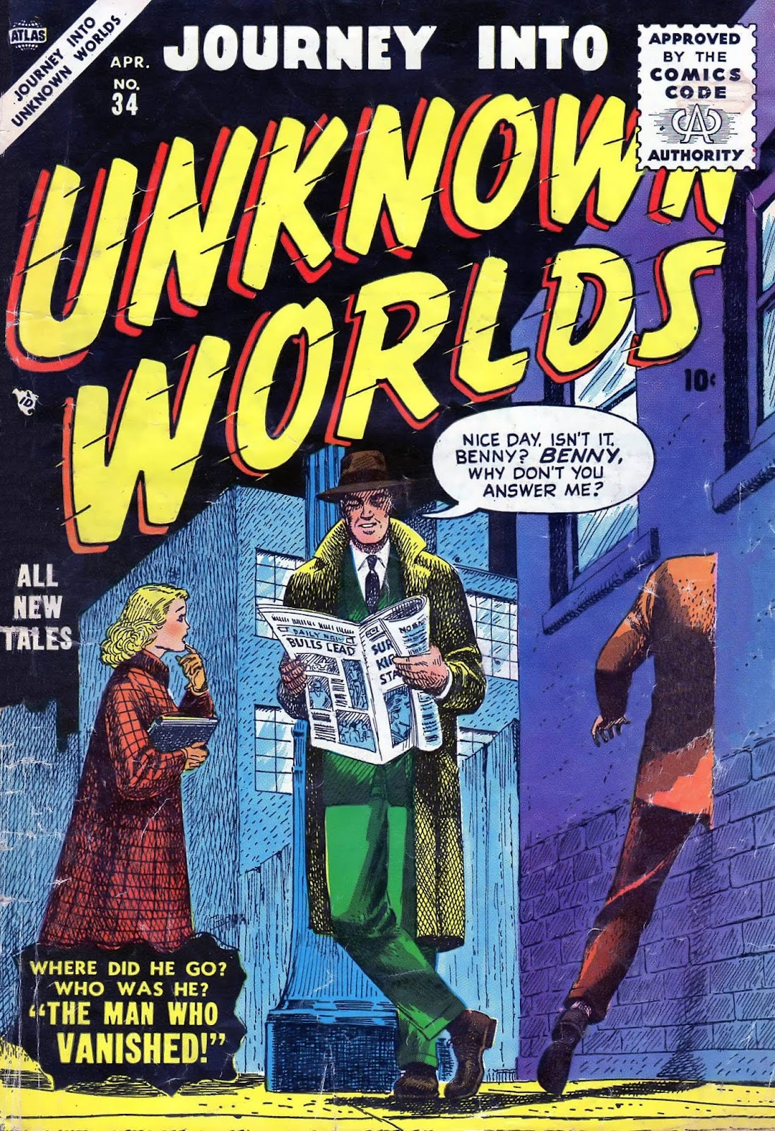 Journey Into Unknown Worlds (1950) issue 34 - Page 1