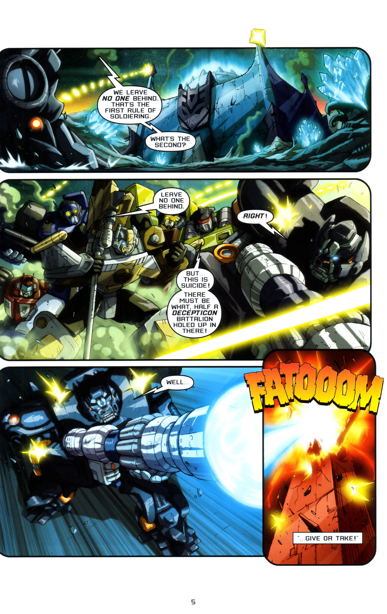 Read online Transformers: Saga of the Allspark comic -  Issue #3 - 8