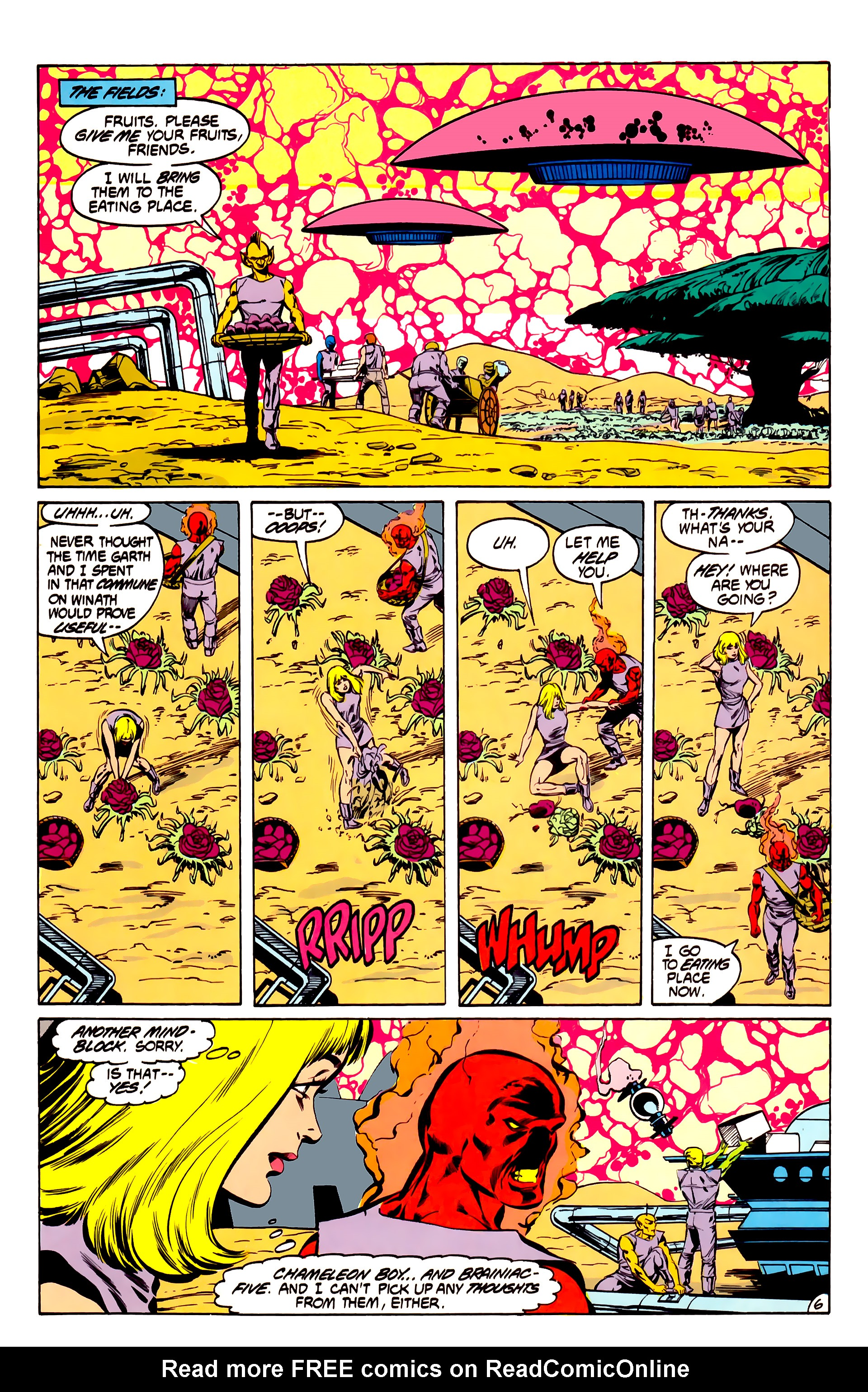 Legion of Super-Heroes (1984) 32 Page 5