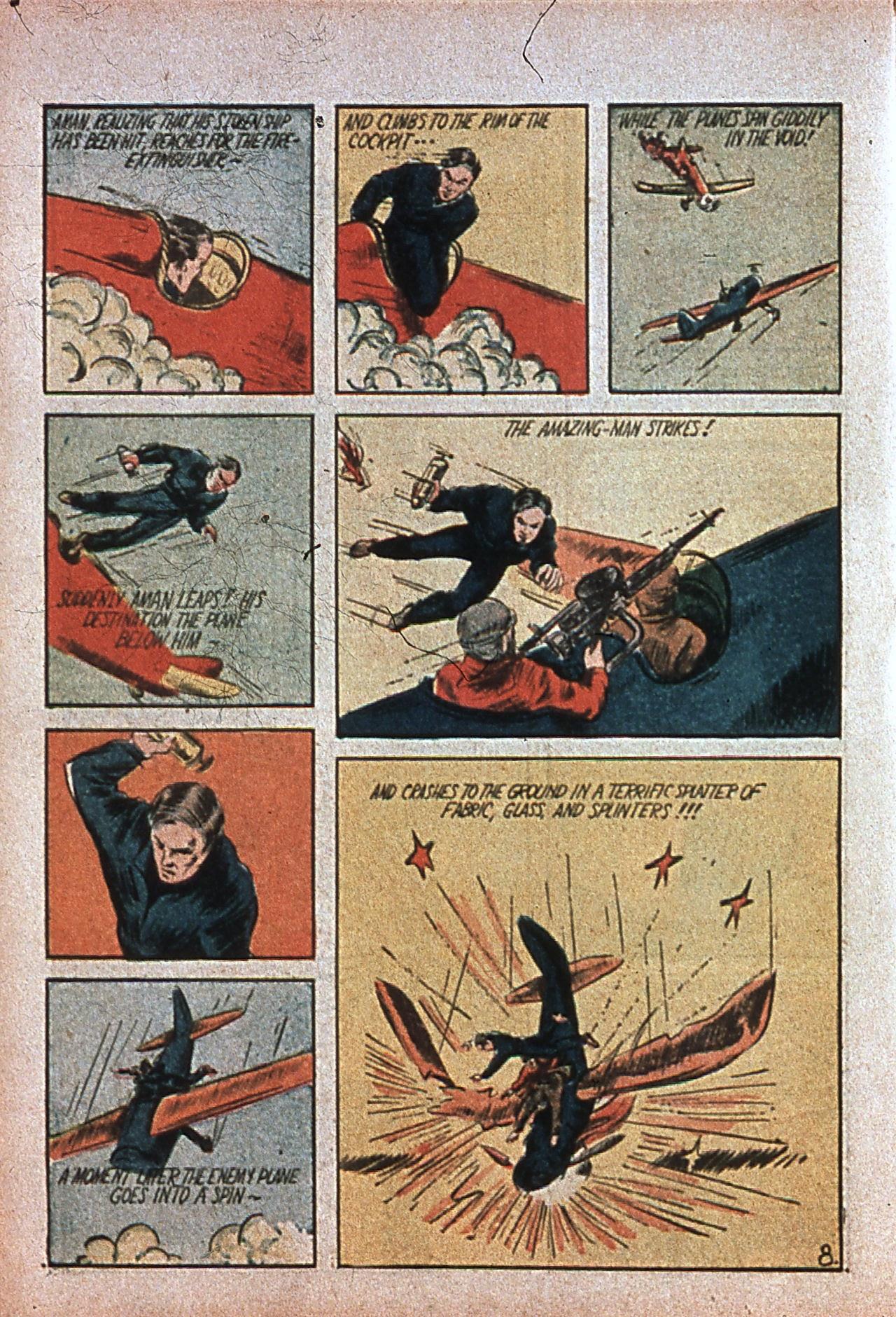 Read online Amazing Man Comics comic -  Issue #7 - 11