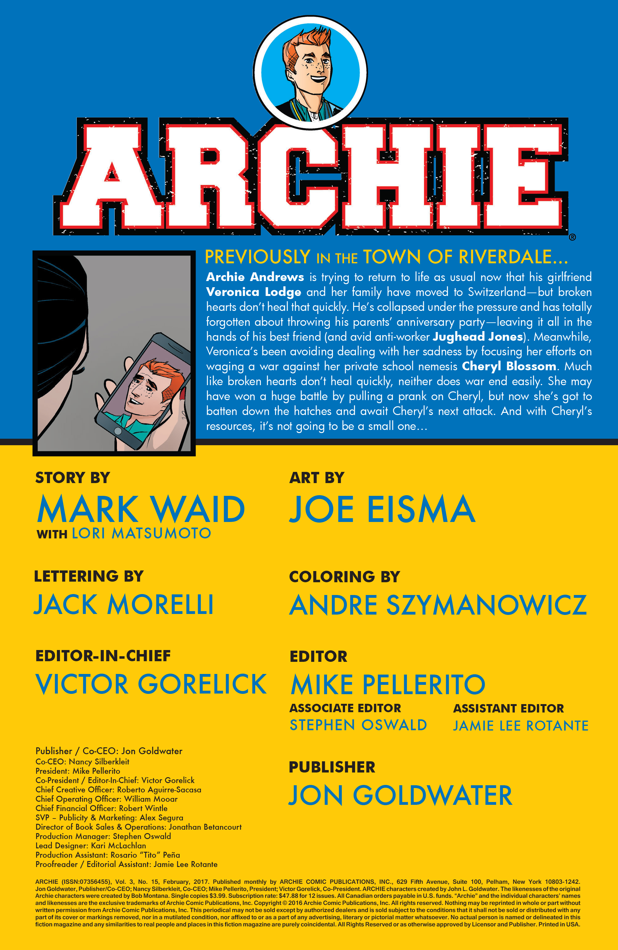 Read online Archie (2015) comic -  Issue #15 - 2