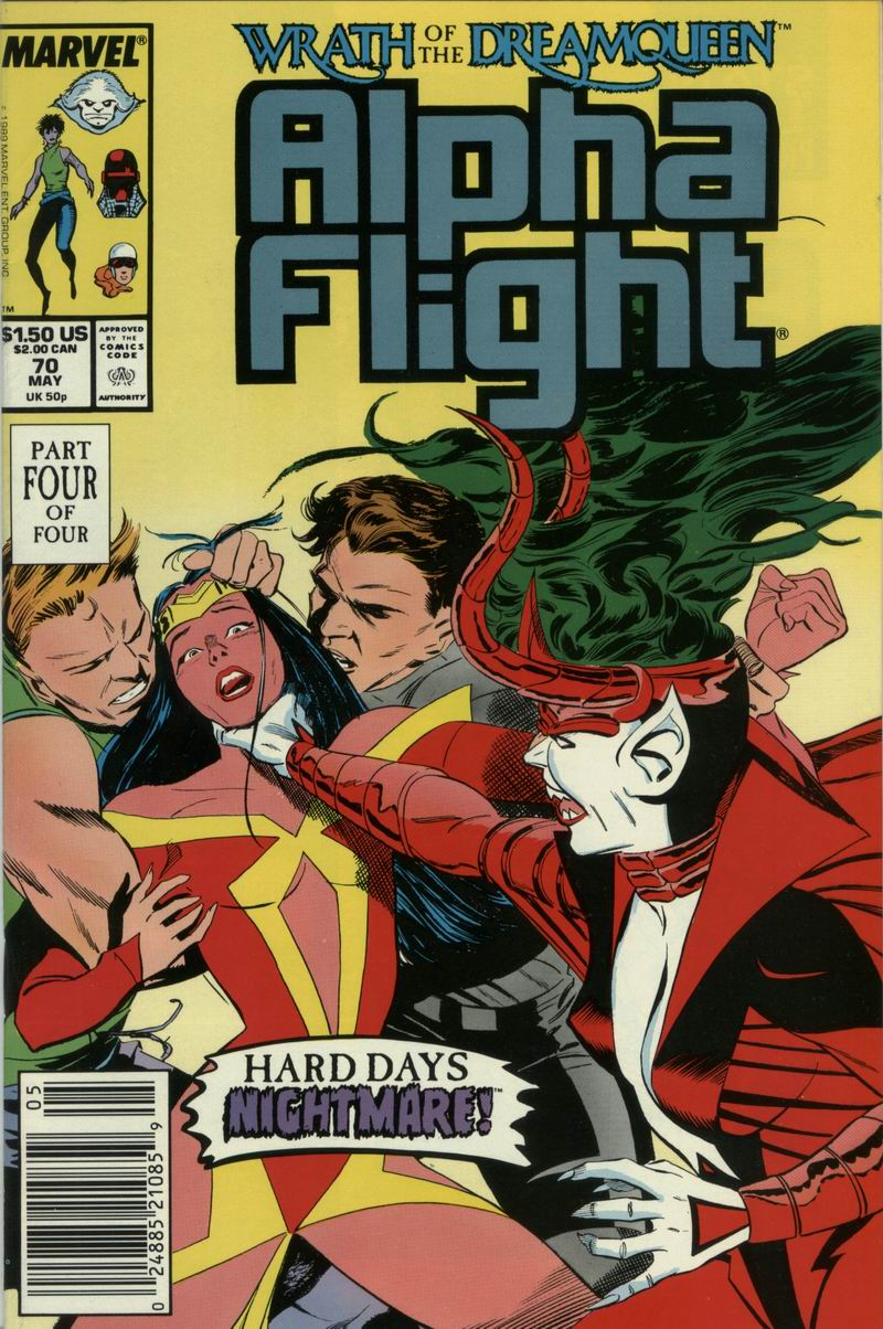 Read online Alpha Flight (1983) comic -  Issue #70 - 1