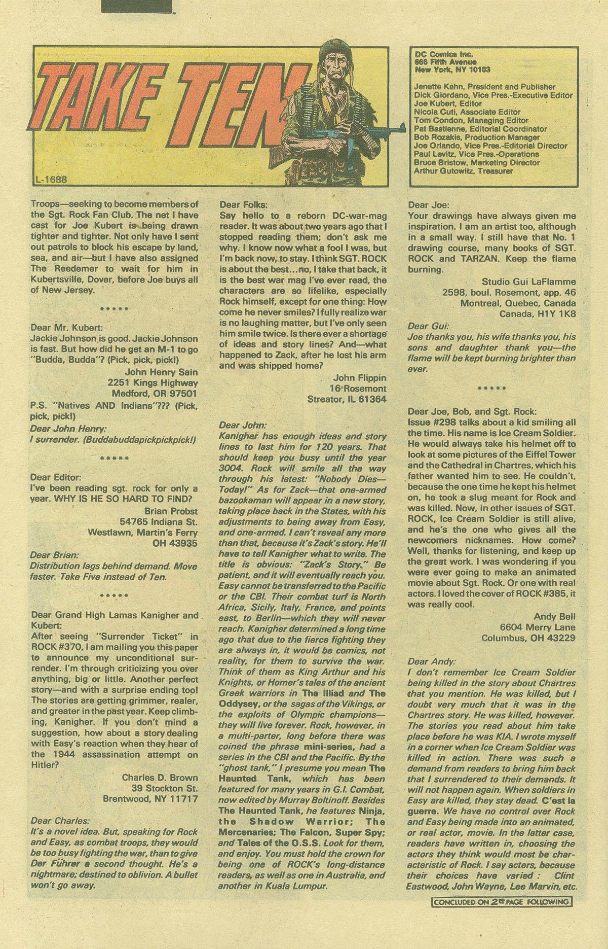 Read online Sgt. Rock comic -  Issue #394 - 20