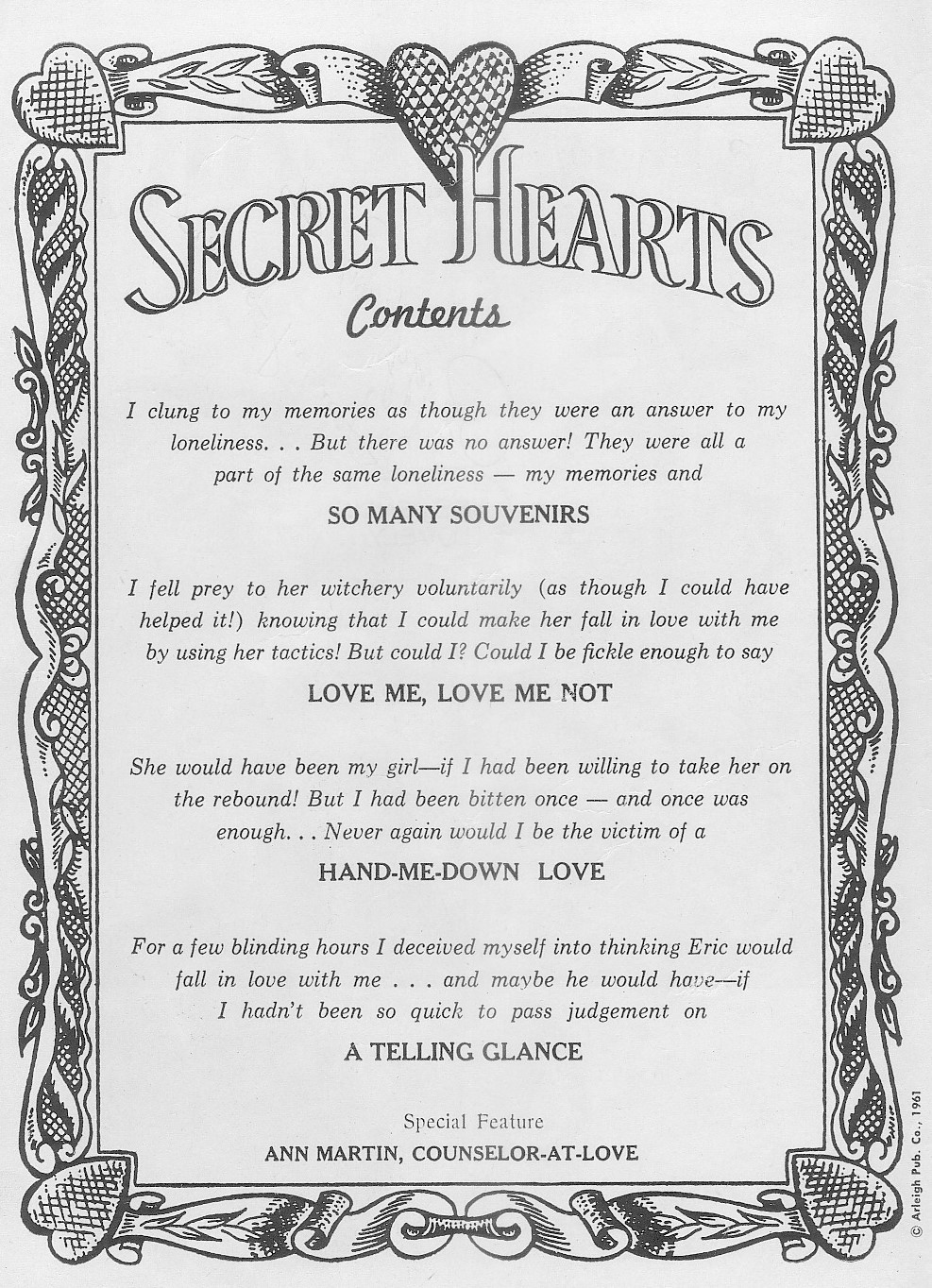 Read online Secret Hearts comic -  Issue #71 - 2