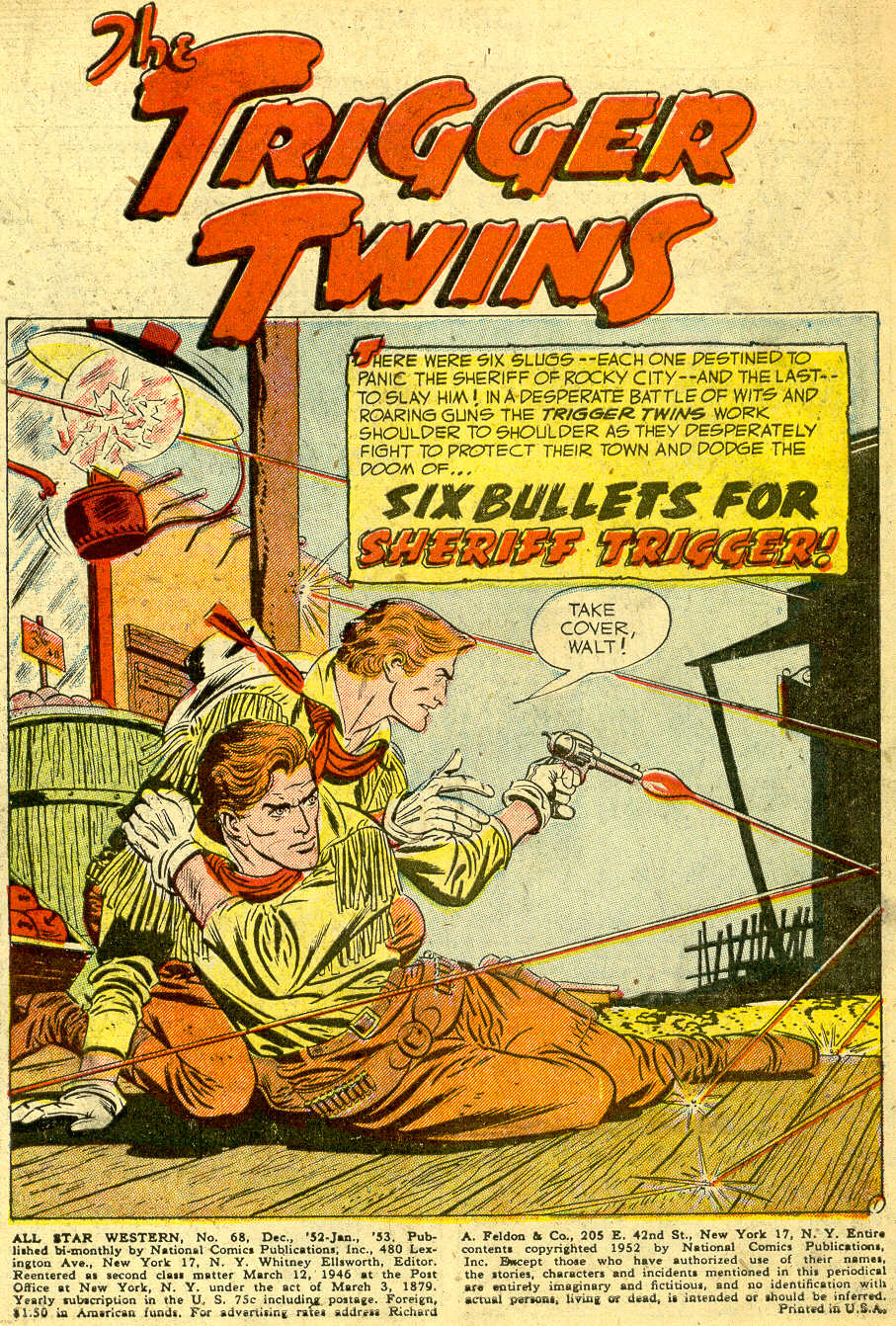 Read online All-Star Western (1951) comic -  Issue #68 - 3