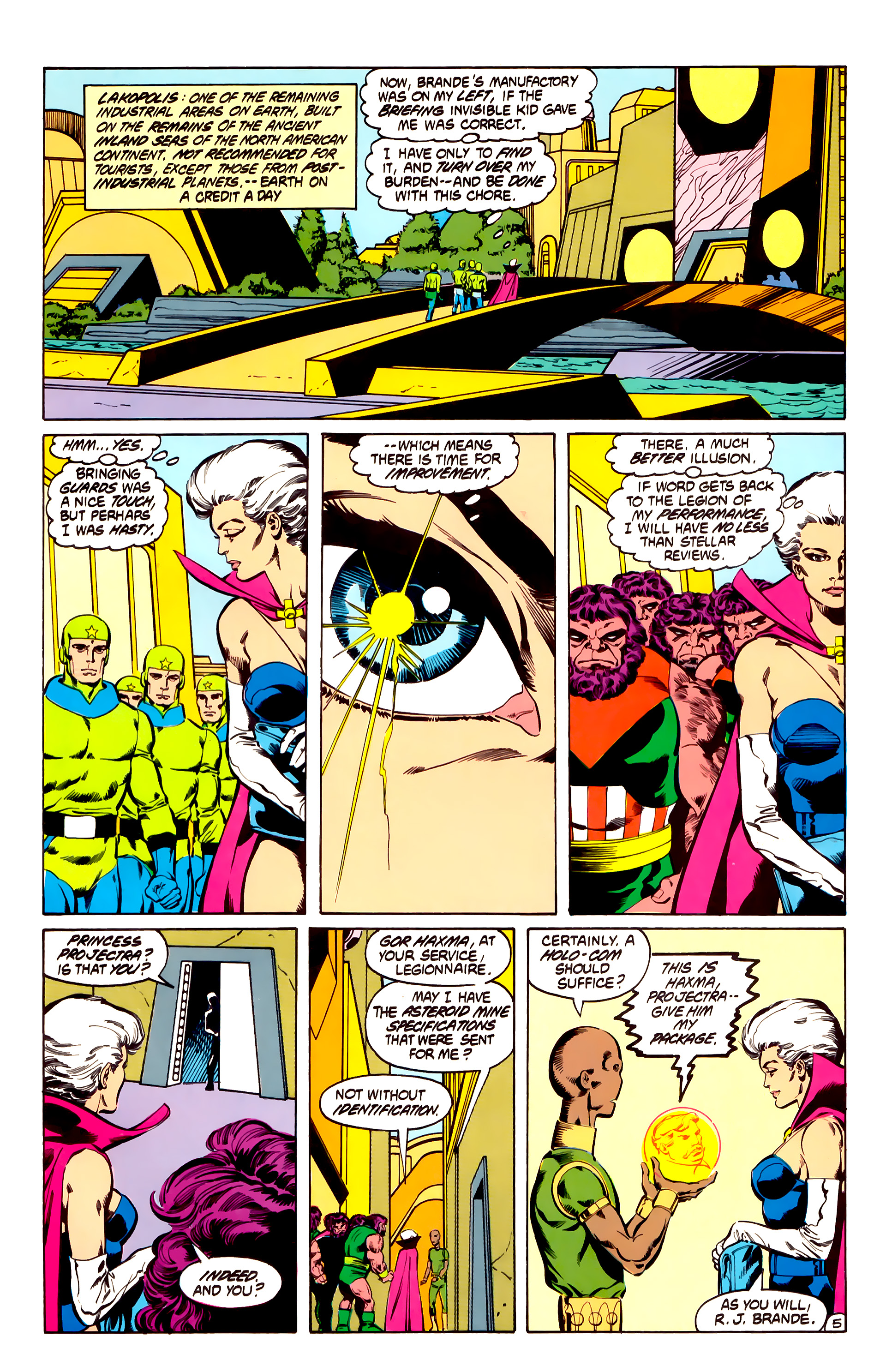 Legion of Super-Heroes (1984) 31 Page 5