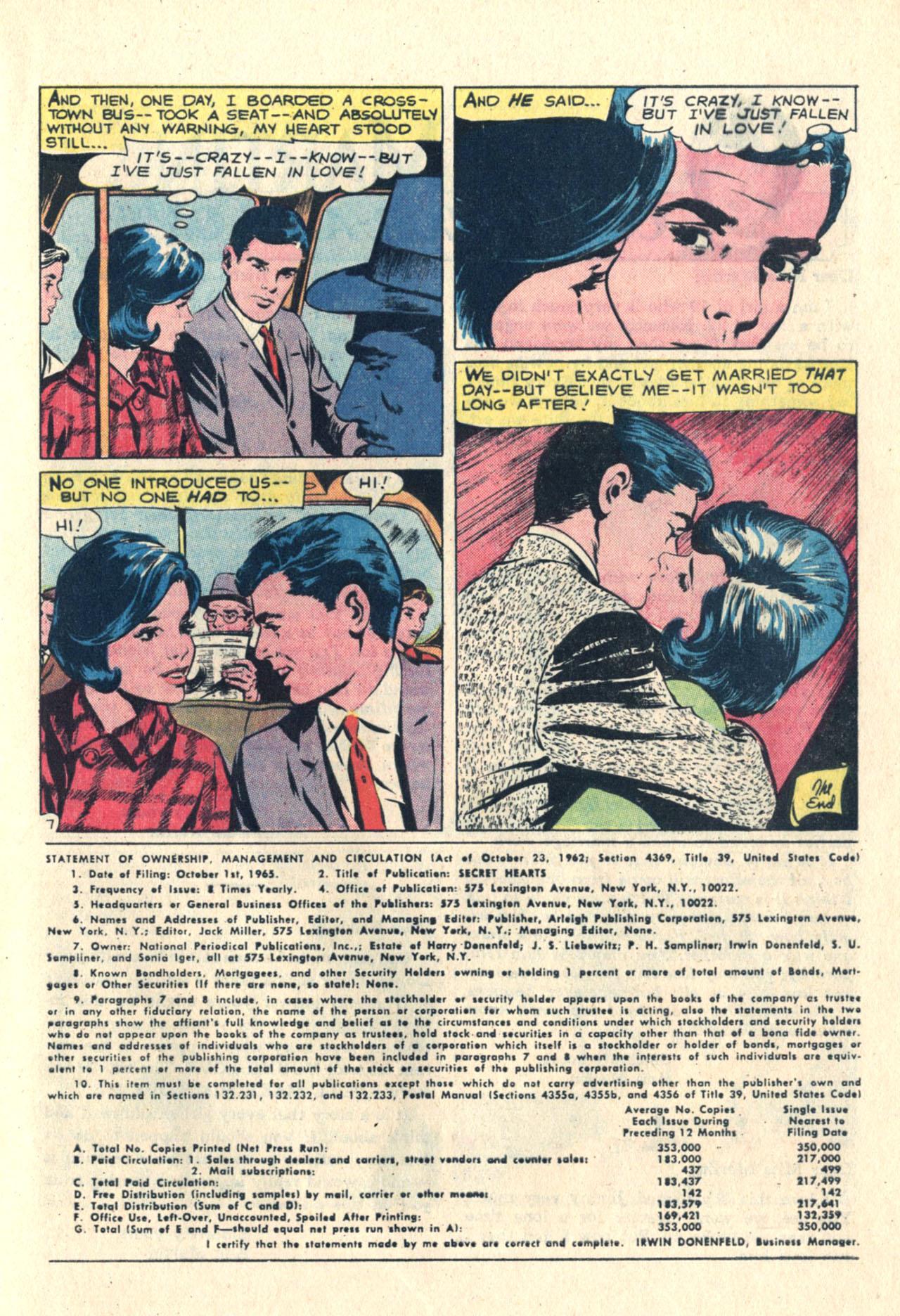 Read online Secret Hearts comic -  Issue #113 - 9