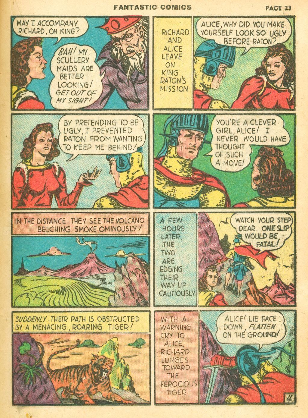 Read online Fantastic Comics comic -  Issue #12 - 25