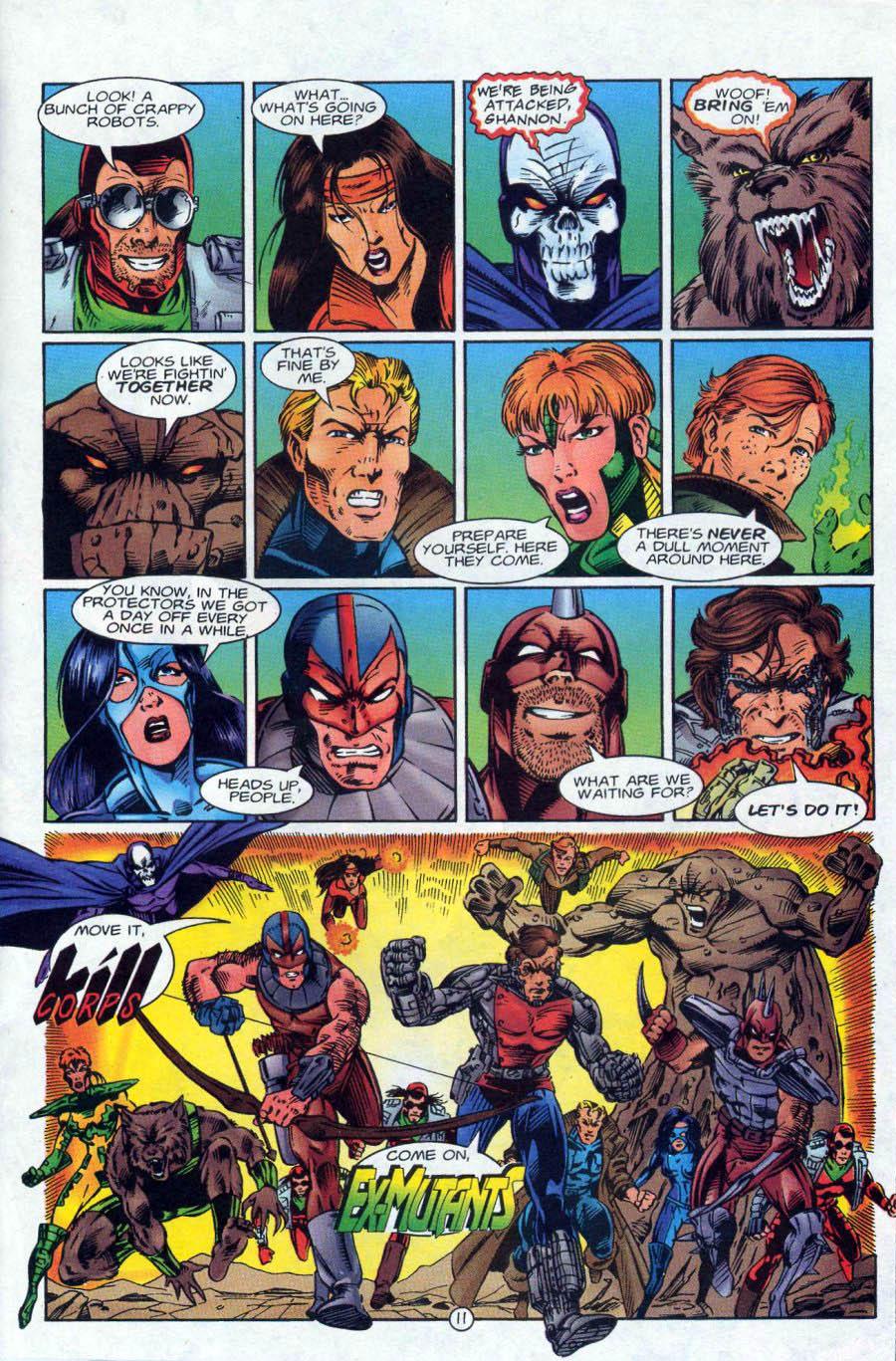 Read online Ex-Mutants comic -  Issue #18 - 12