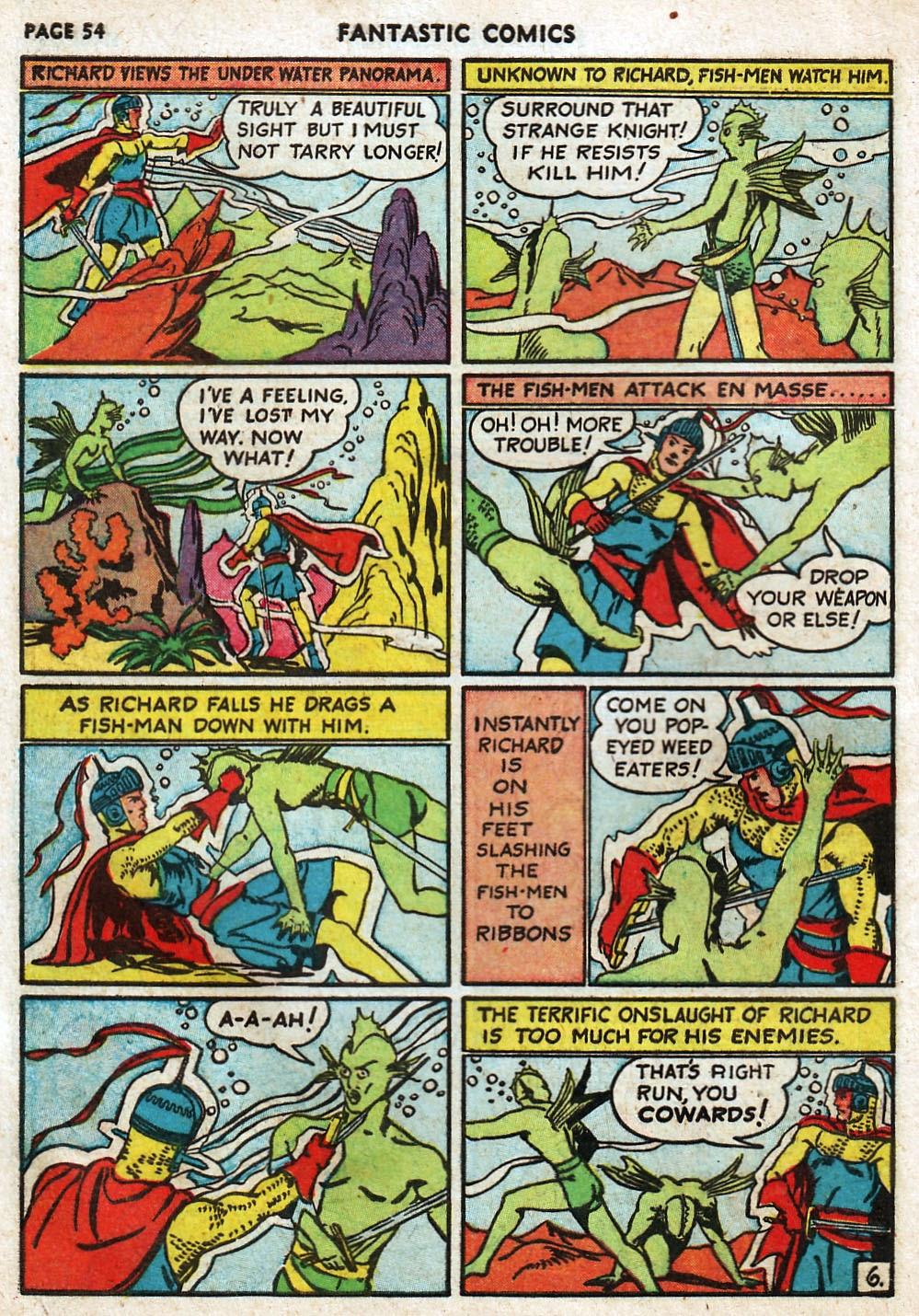 Read online Fantastic Comics comic -  Issue #17 - 55