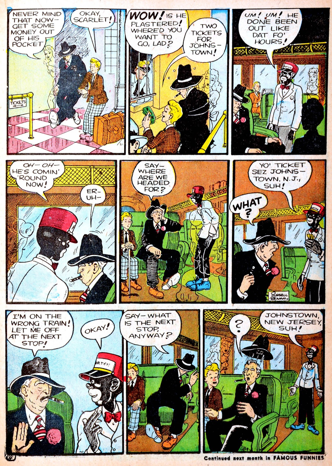 Read online Famous Funnies comic -  Issue #88 - 27