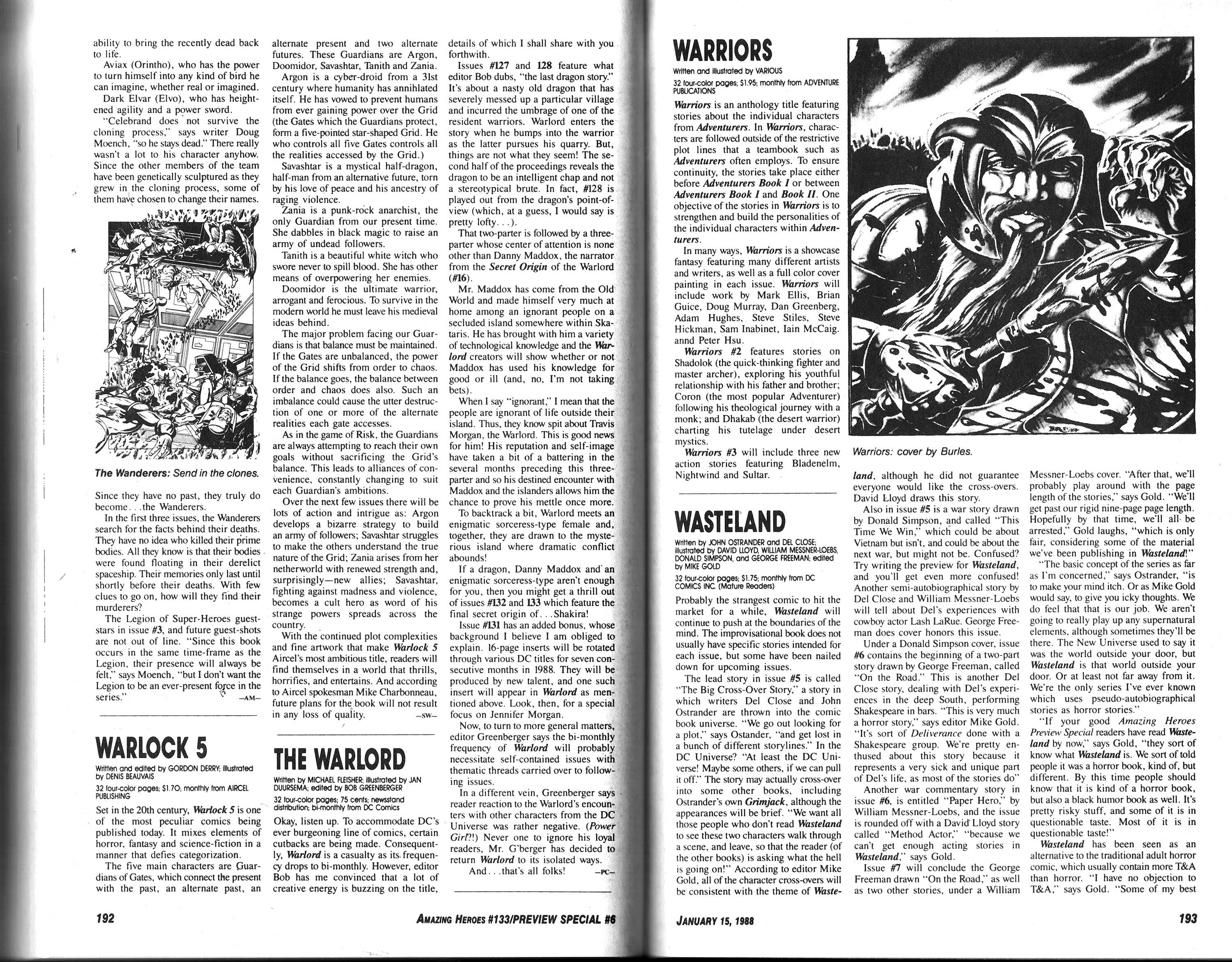 Read online Amazing Heroes comic -  Issue #133 - 98