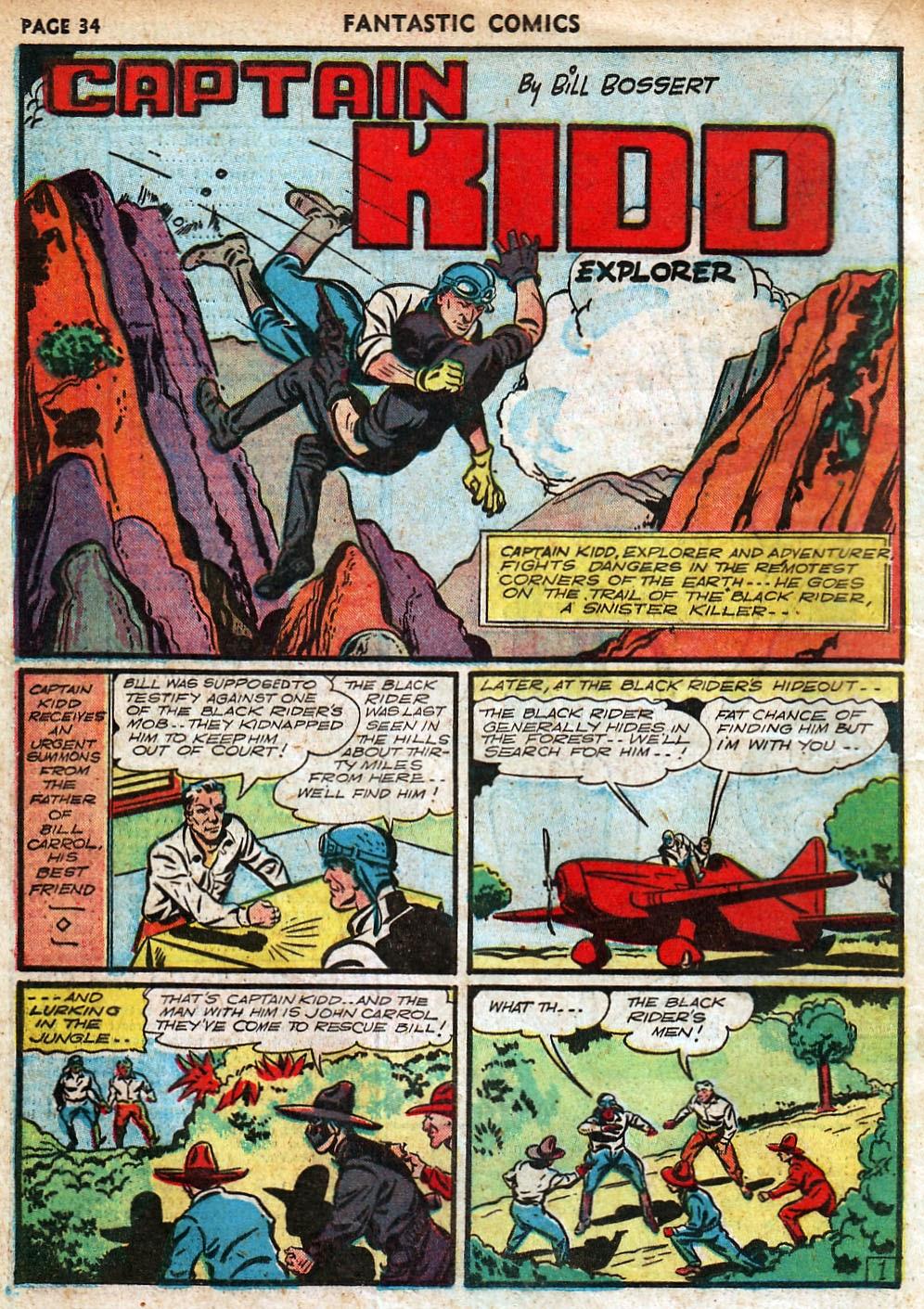 Read online Fantastic Comics comic -  Issue #18 - 36