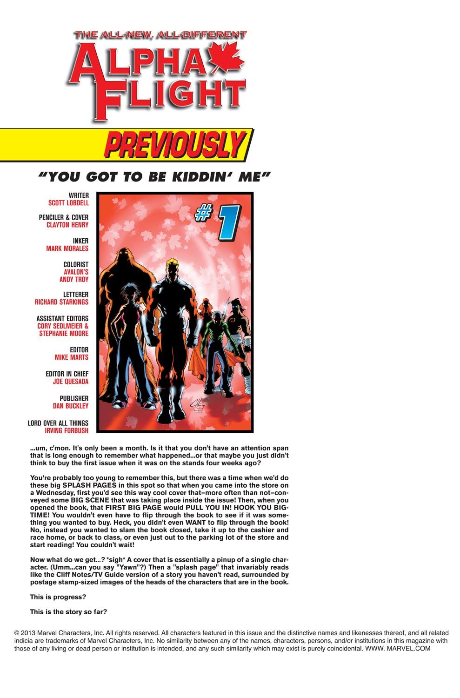 Read online Alpha Flight (2004) comic -  Issue #2 - 2