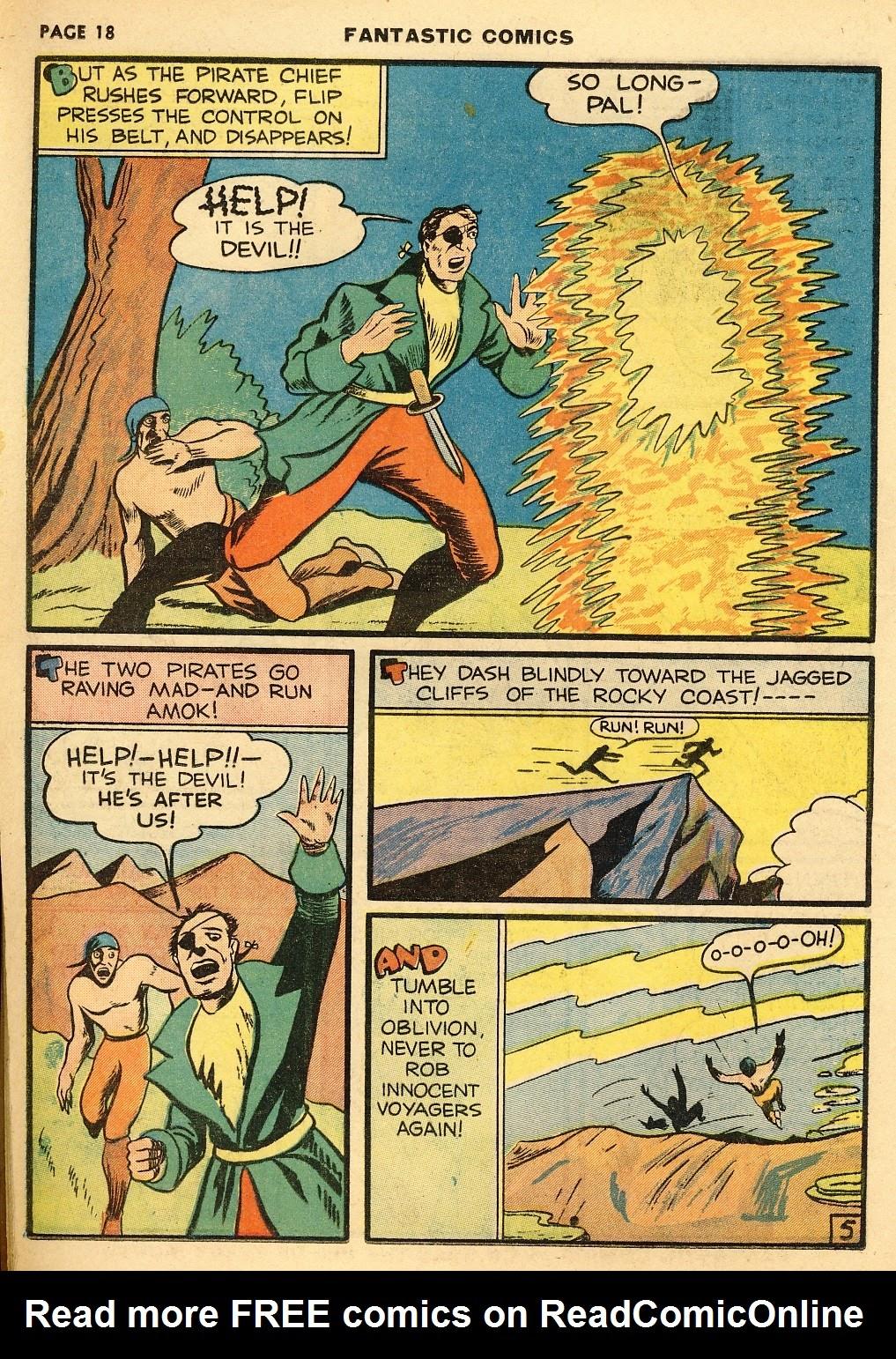 Read online Fantastic Comics comic -  Issue #10 - 19