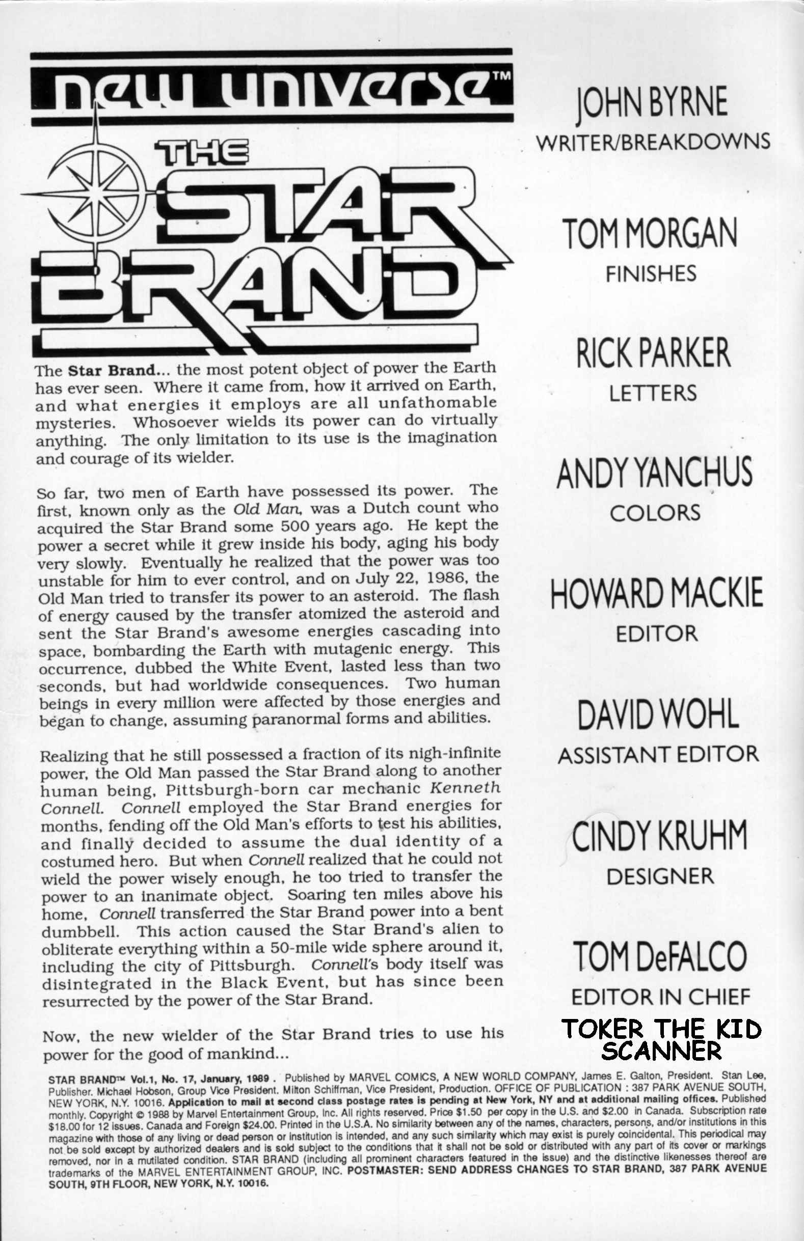 Read online Star Brand comic -  Issue #17 - 2