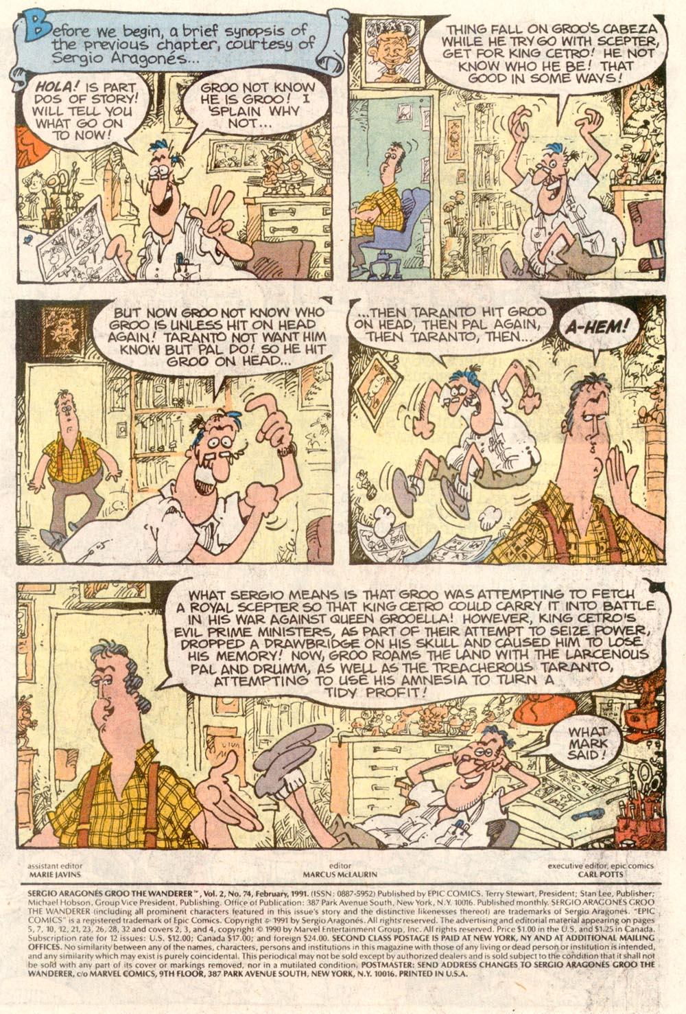 Read online Sergio Aragonés Groo the Wanderer comic -  Issue #74 - 2
