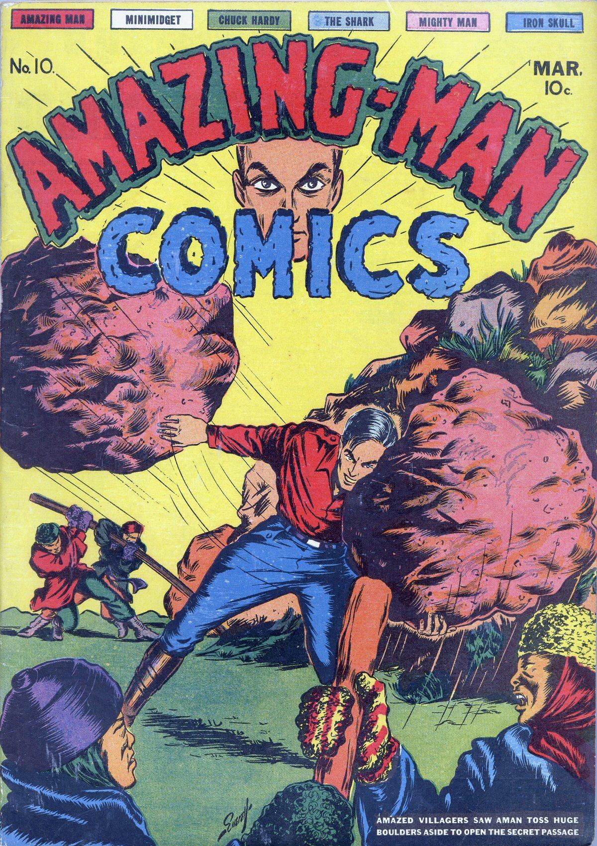Read online Amazing Man Comics comic -  Issue #10 - 1