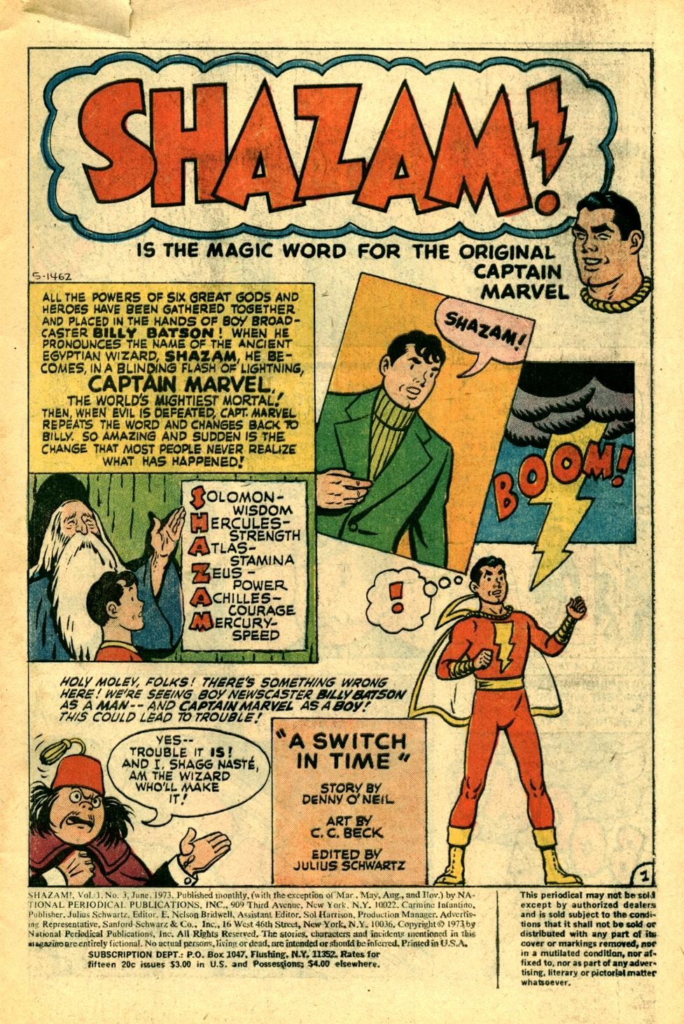 Read online Shazam! (1973) comic -  Issue #3 - 2
