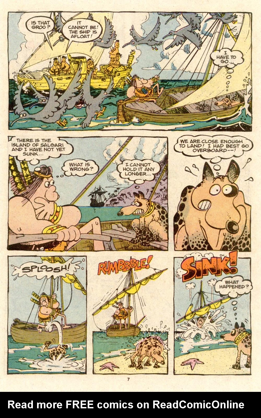 Read online Sergio Aragonés Groo the Wanderer comic -  Issue #33 - 7
