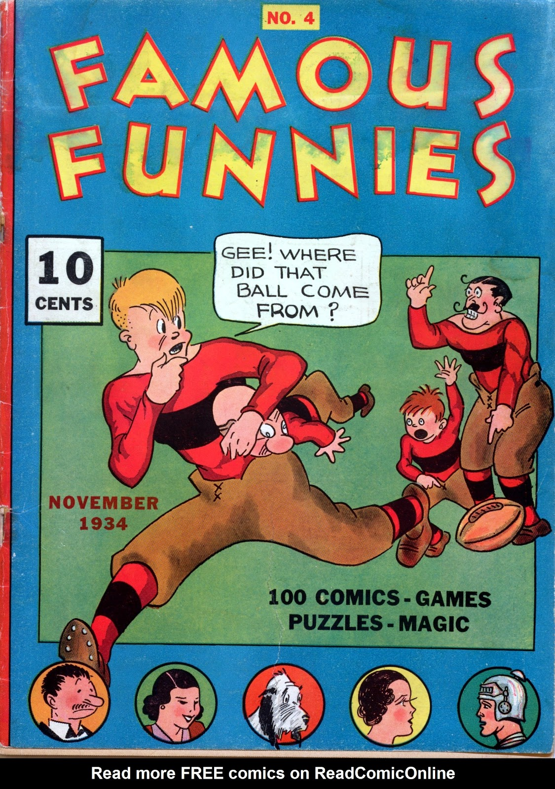 Read online Famous Funnies comic -  Issue #4 - 1