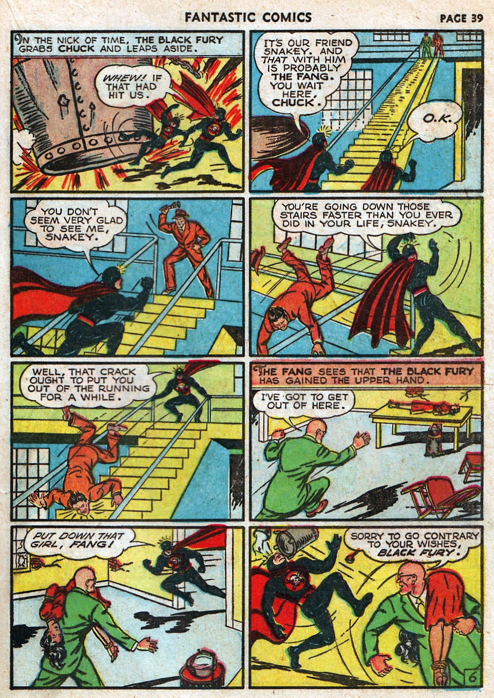 Read online Fantastic Comics comic -  Issue #17 - 40