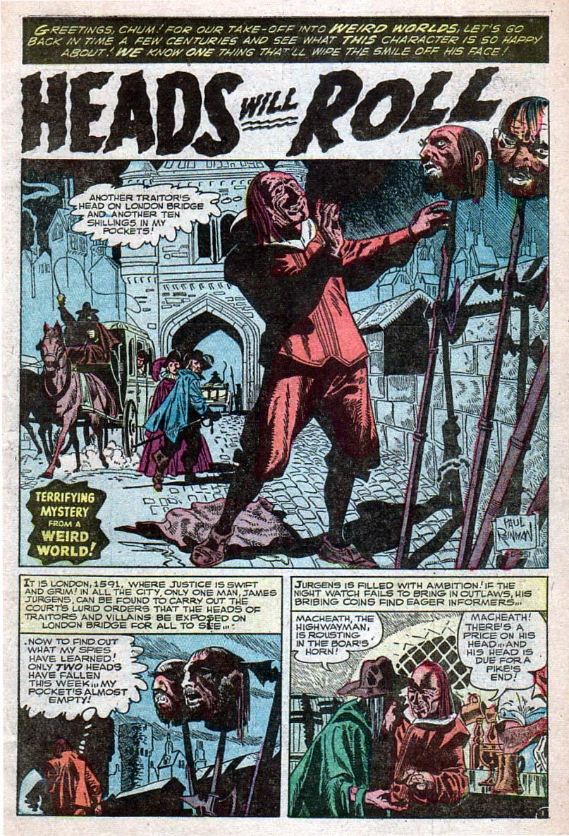 Read online Adventures into Weird Worlds comic -  Issue #28 - 2
