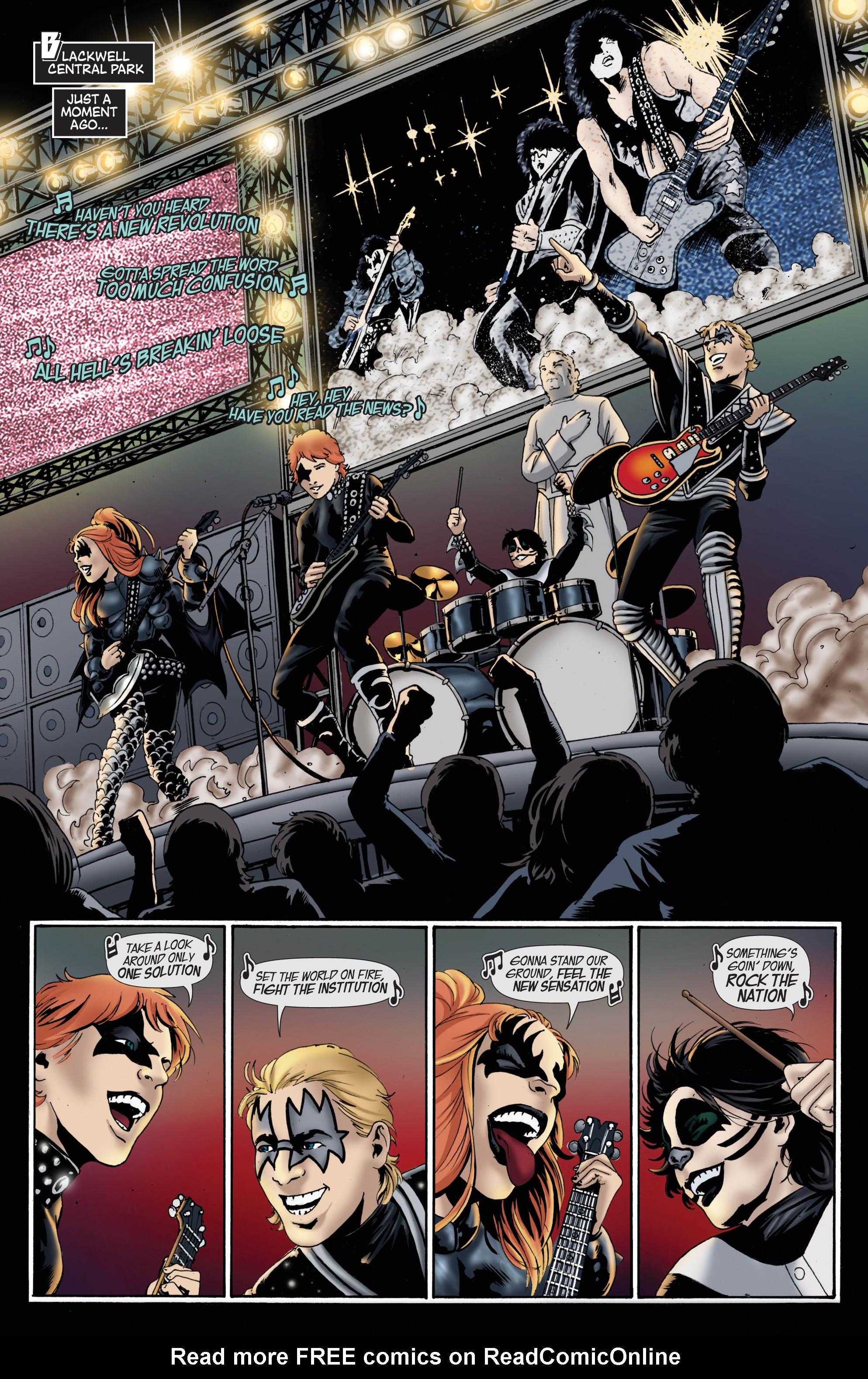 Read online KISS comic -  Issue #8 - 5