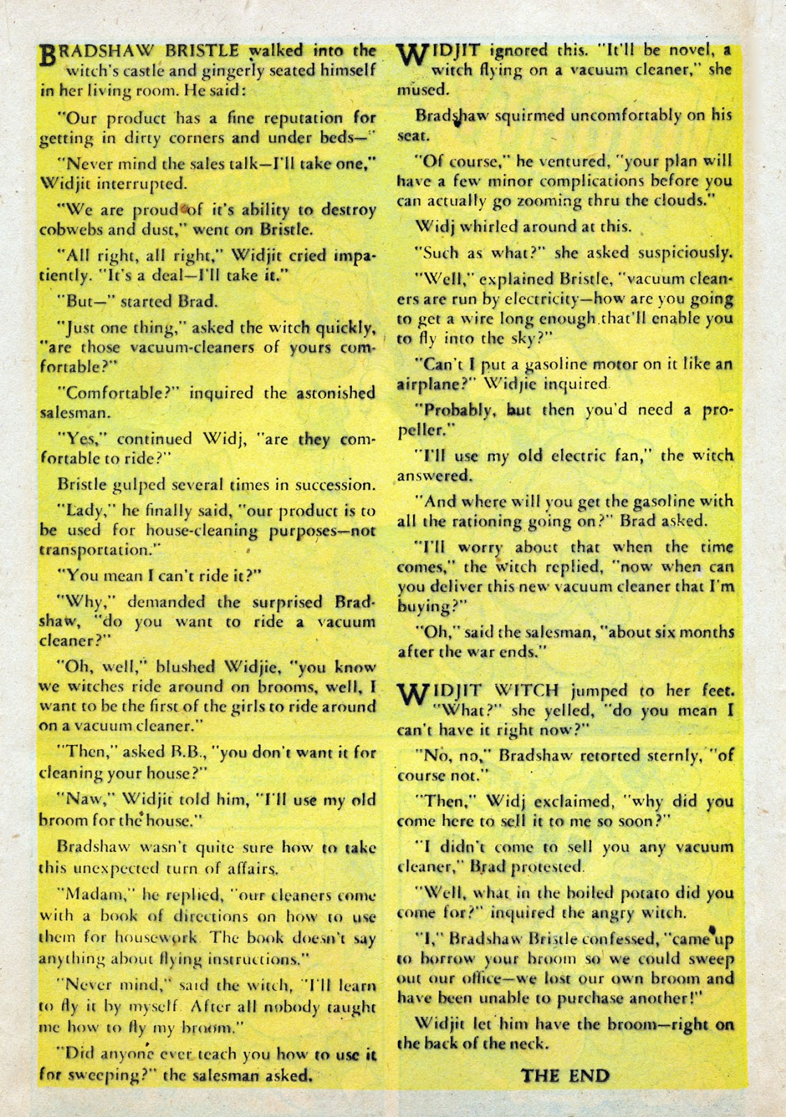 Read online Comedy Comics (1942) comic -  Issue #24 - 32