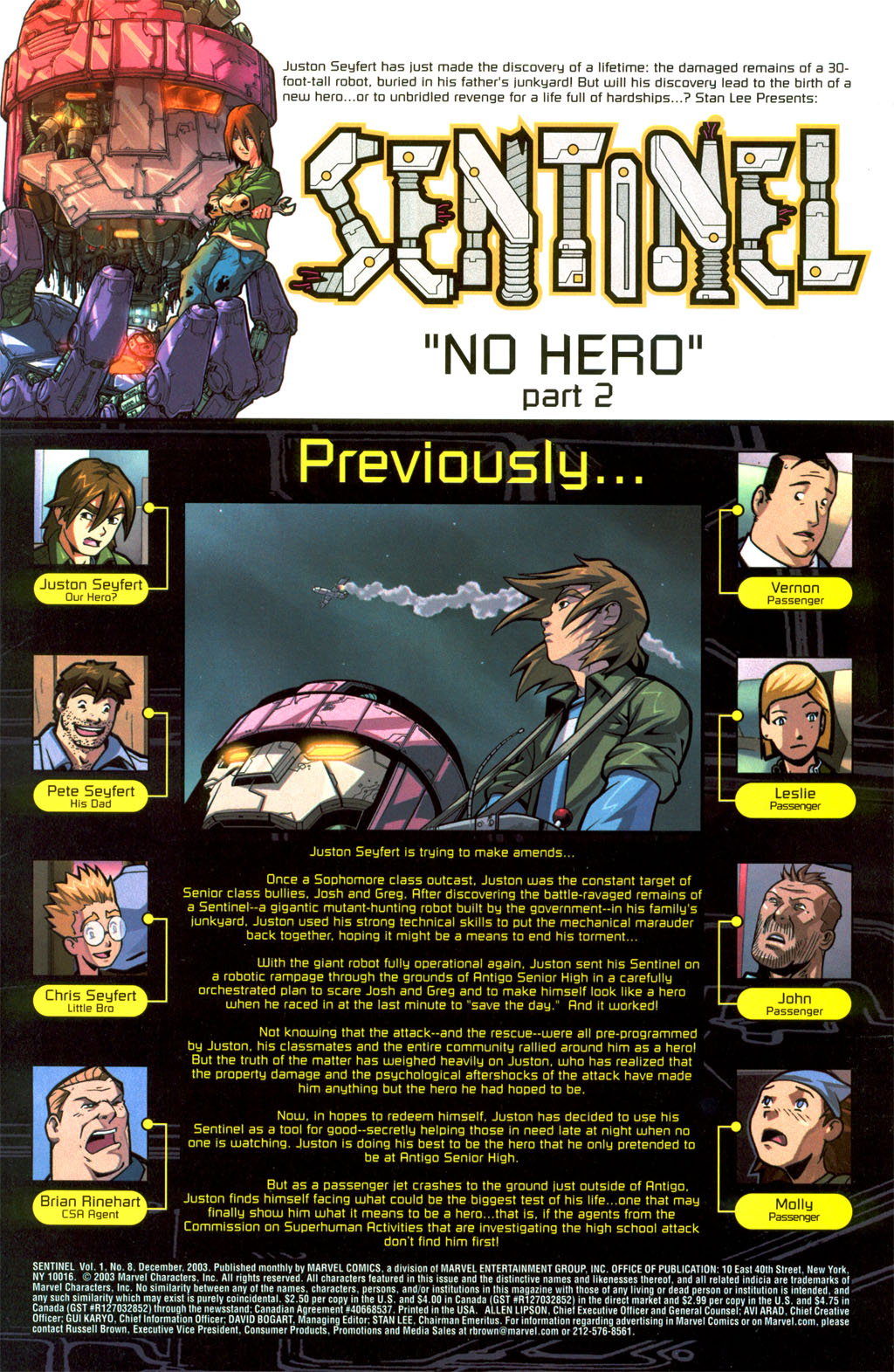 Read online Sentinel comic -  Issue #8 - 2