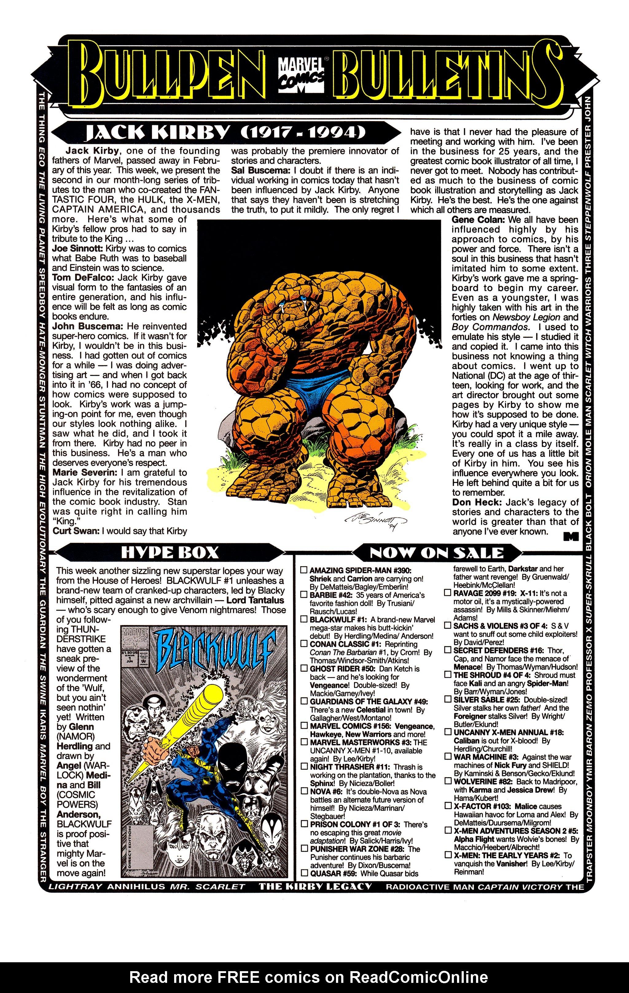 Read online Uncanny X-Men (1963) comic -  Issue #313 - 20
