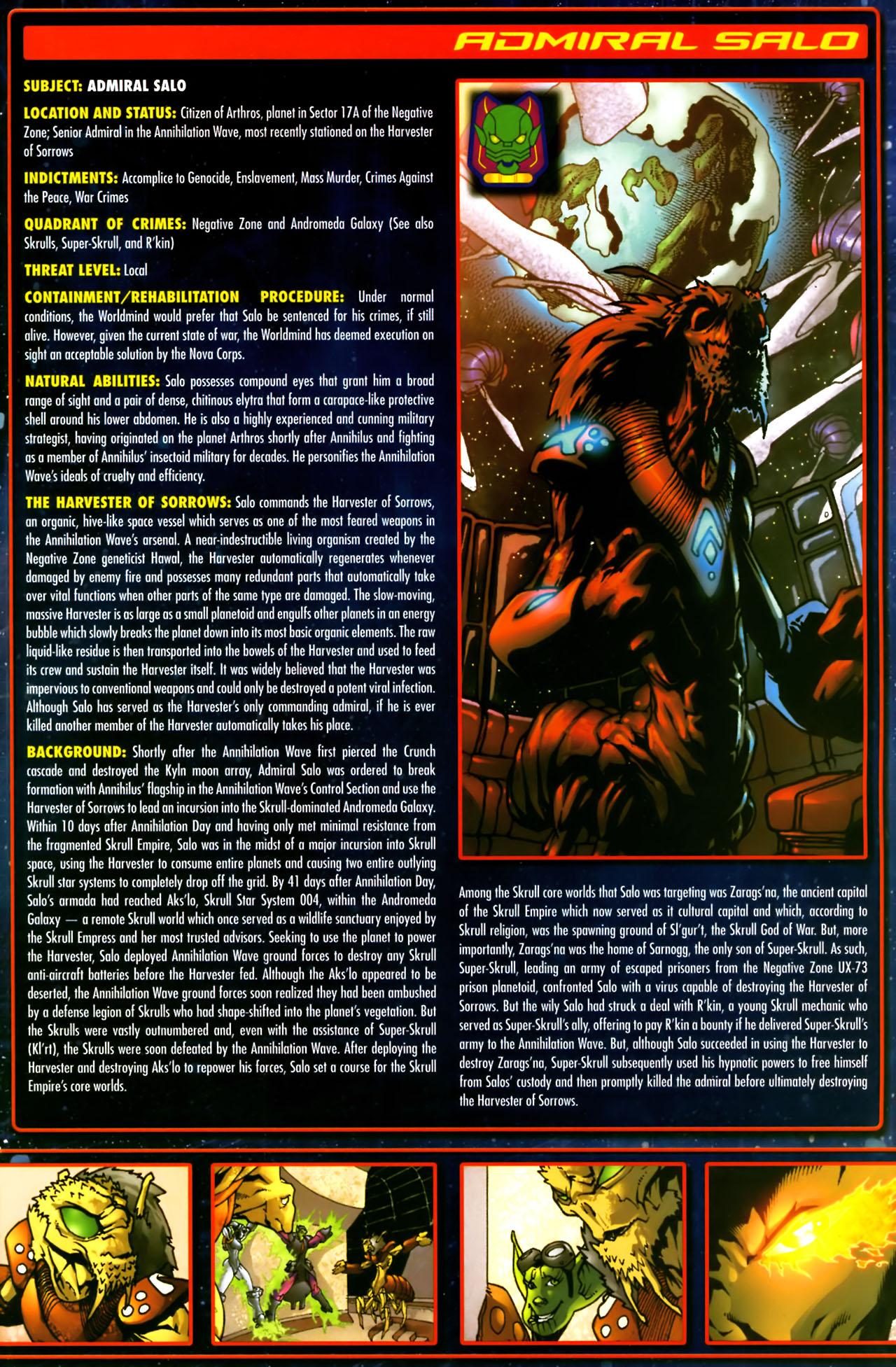 Read online Annihilation:  The  Nova Corps Files comic -  Issue #Annihilation:  The  Nova Corps Files Full - 34