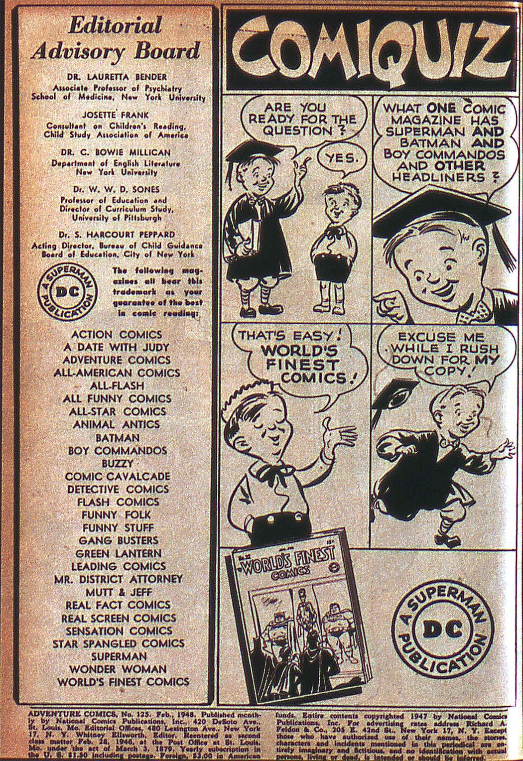 Read online Adventure Comics (1938) comic -  Issue #125 - 3