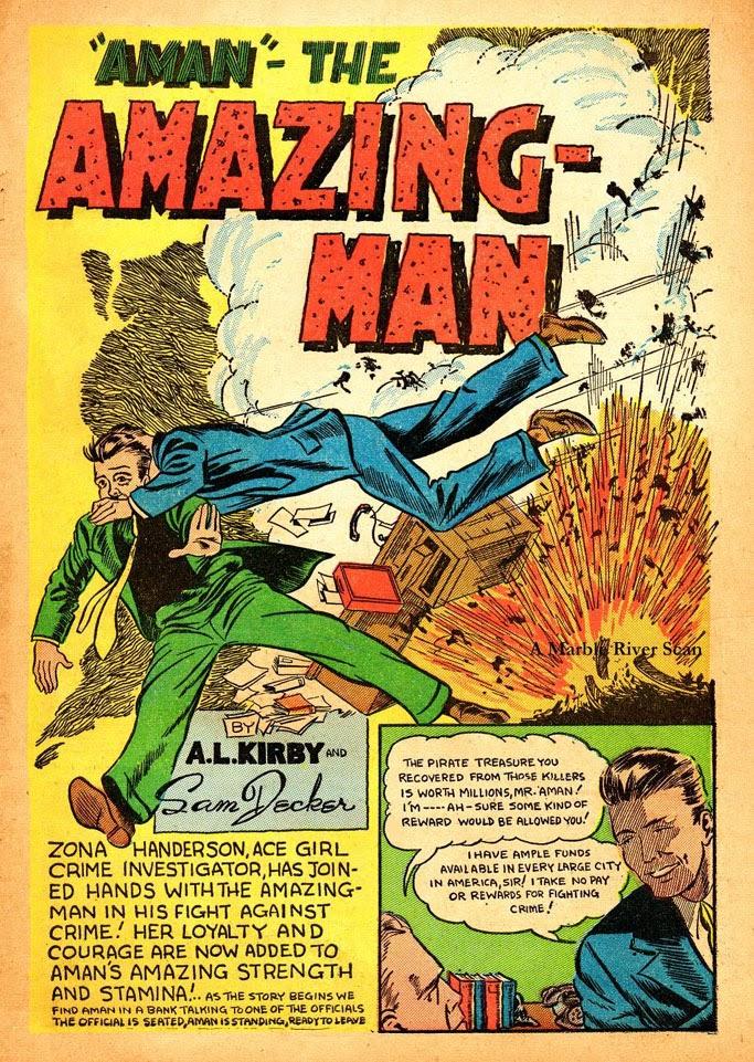 Read online Amazing Man Comics comic -  Issue #12 - 3