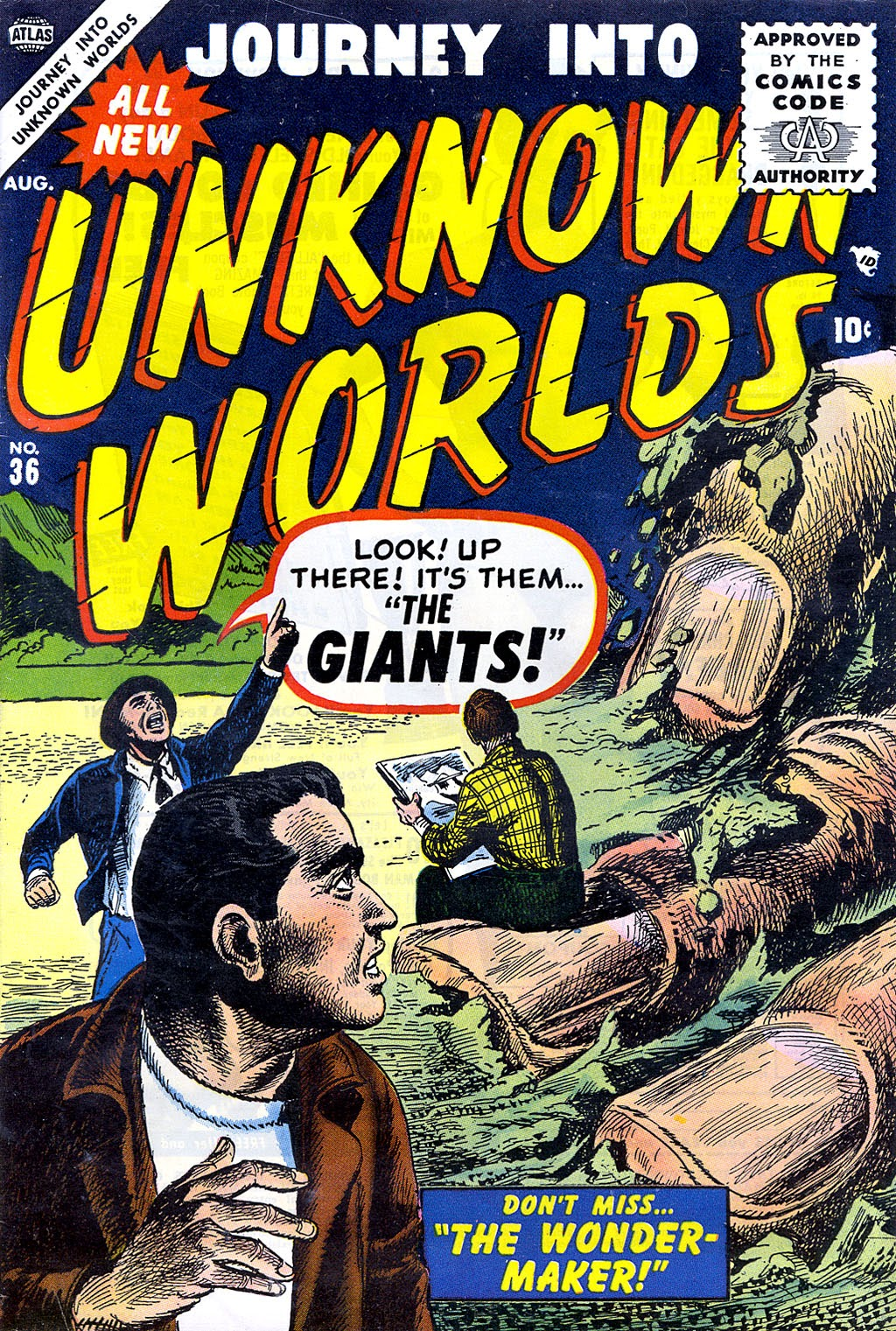 Journey Into Unknown Worlds (1950) issue 36 - Page 1
