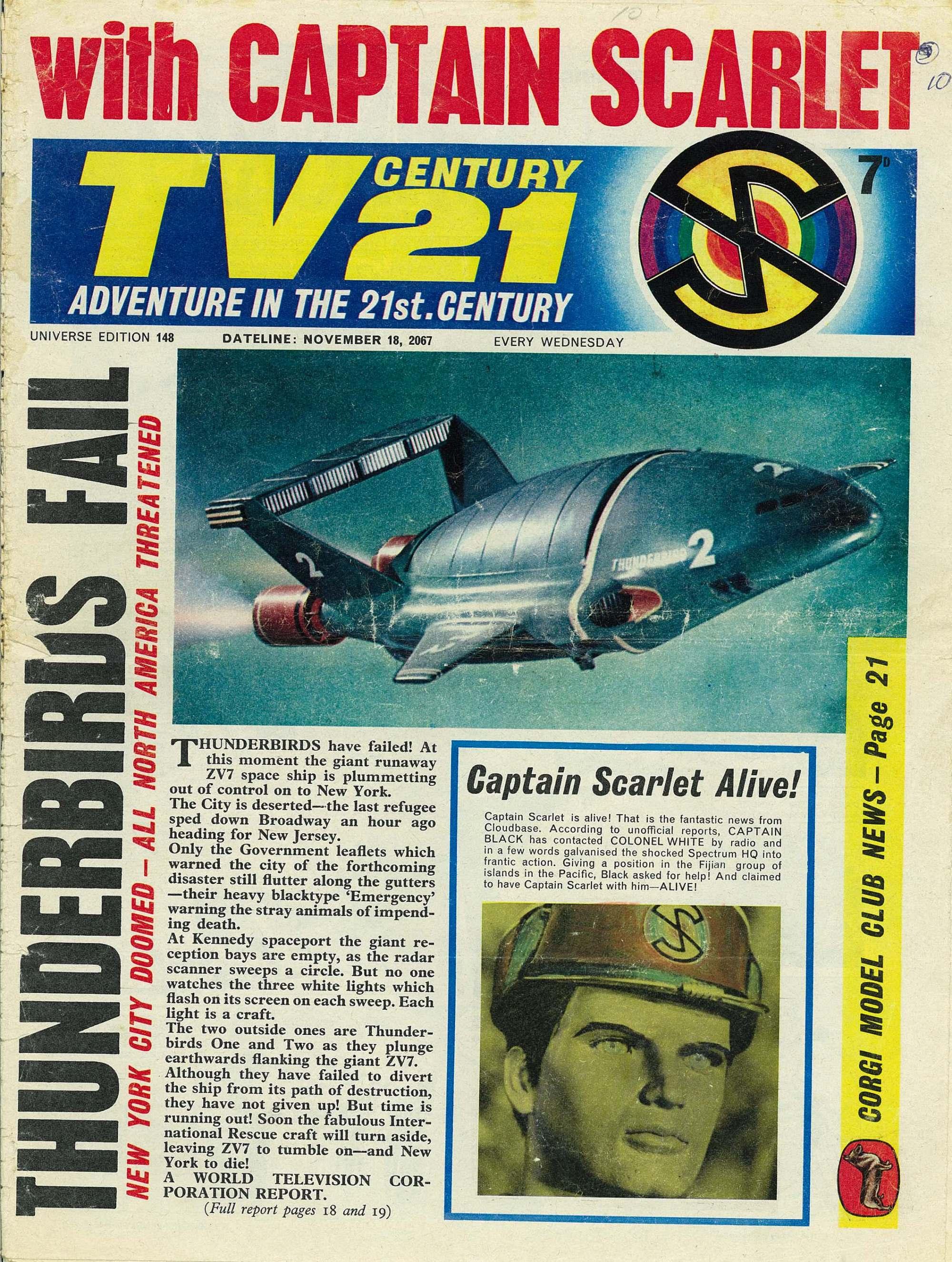 Read online TV Century 21 (TV 21) comic -  Issue #148 - 1