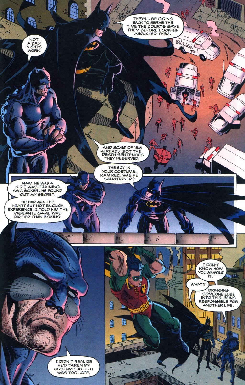 Read online Batman/Wildcat comic -  Issue #3 - 21