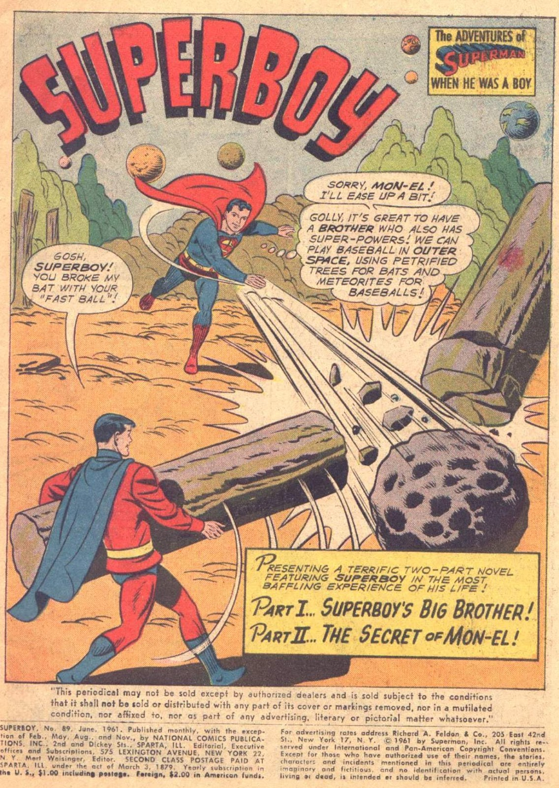 Superboy (1949) issue 89 - Page 1