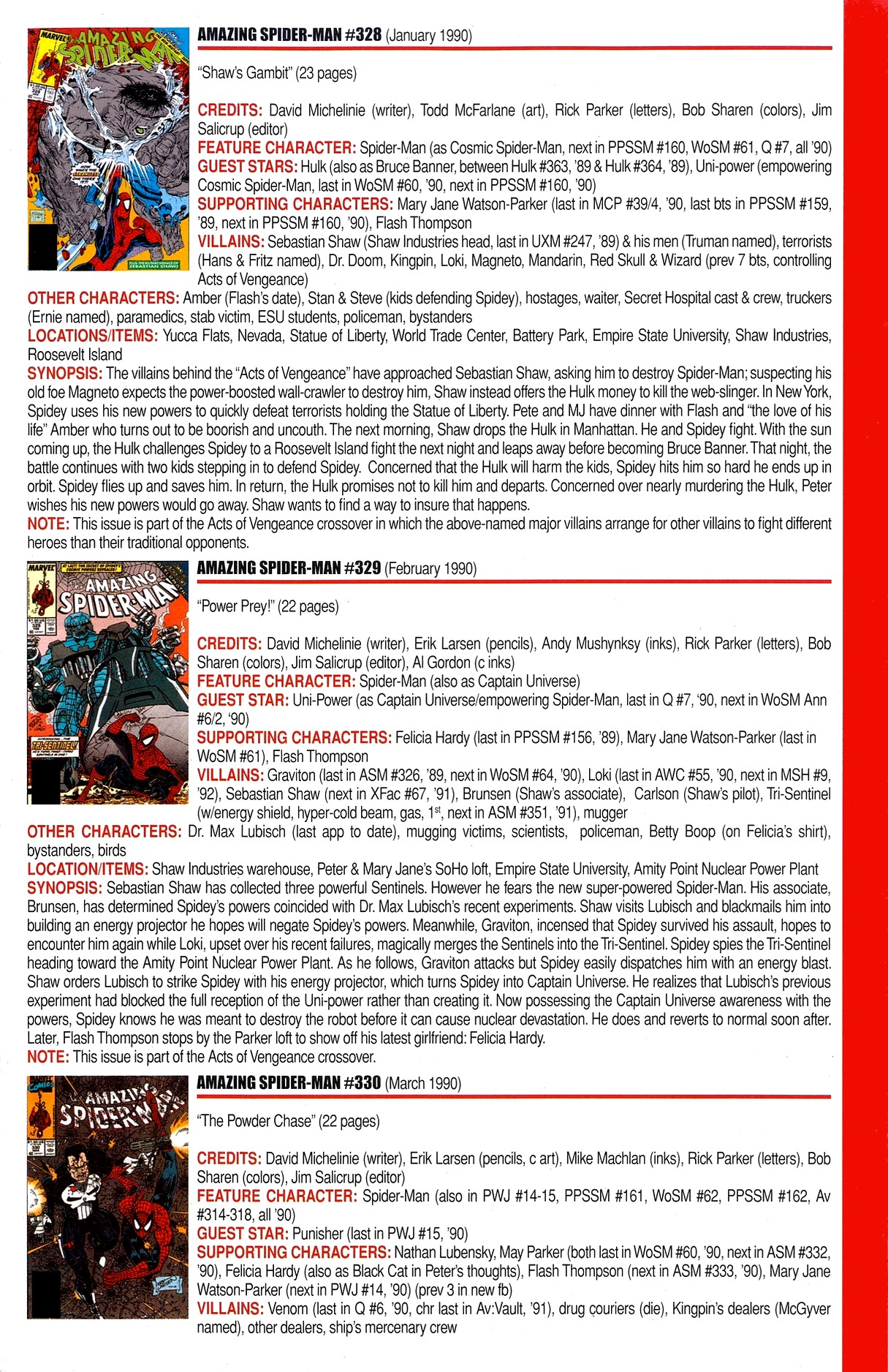 Read online Official Index to the Marvel Universe comic -  Issue #8 - 3