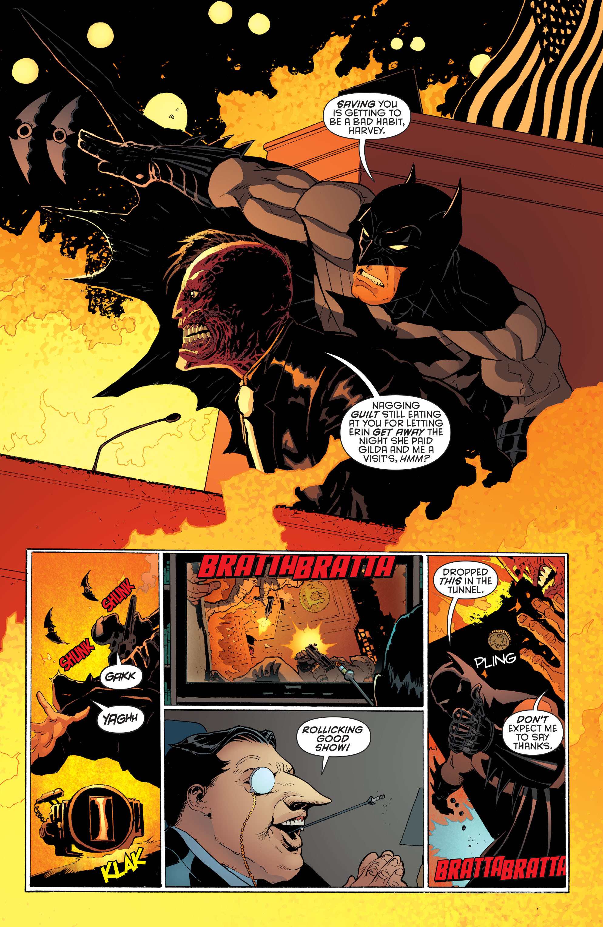 Read online Batman and Robin (2011) comic -  Issue #28 - Batman and Two-Face - 6