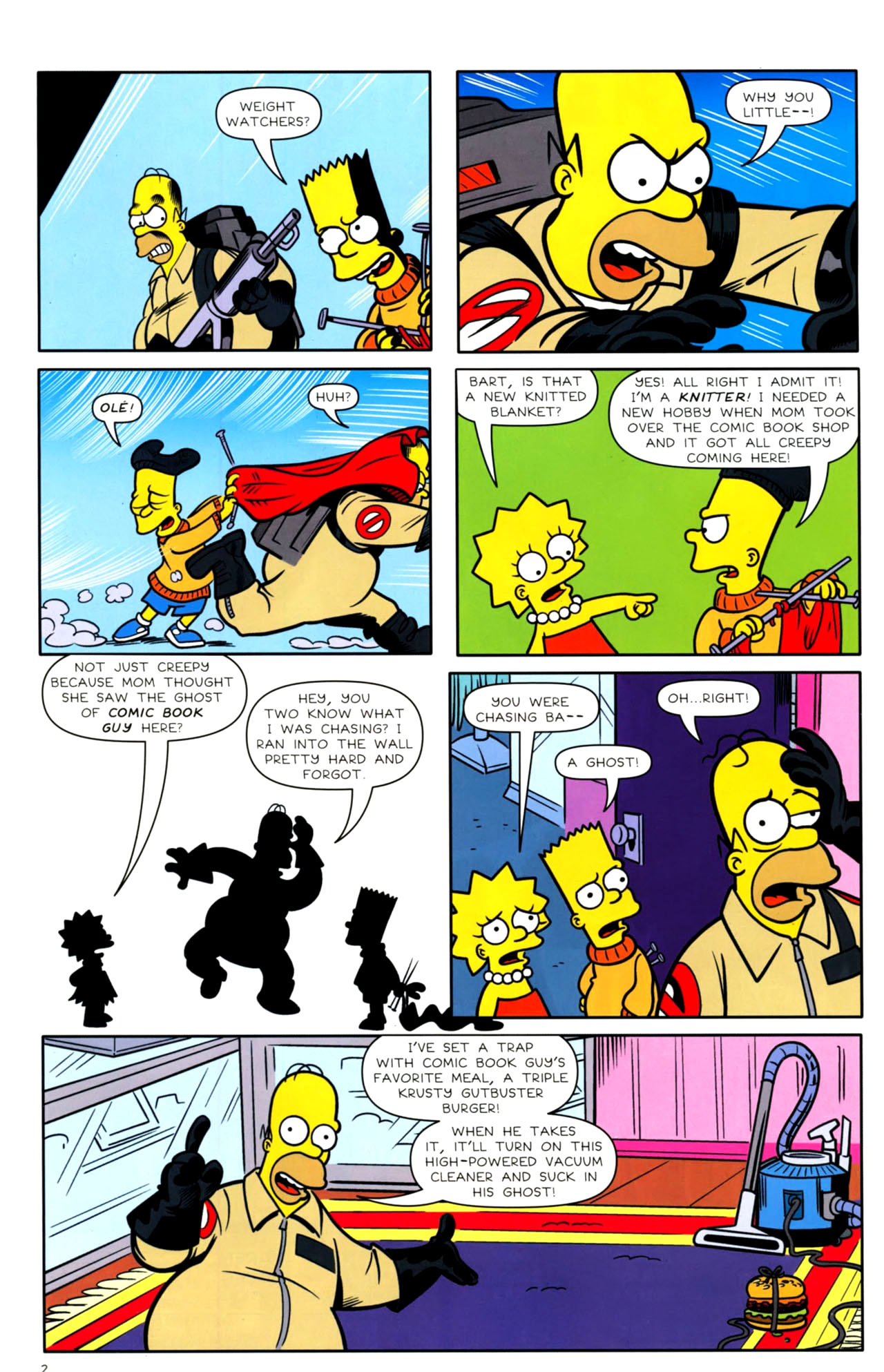 Read online Bongo Comics presents Comic Book Guy: The Comic Book comic -  Issue #4 - 4