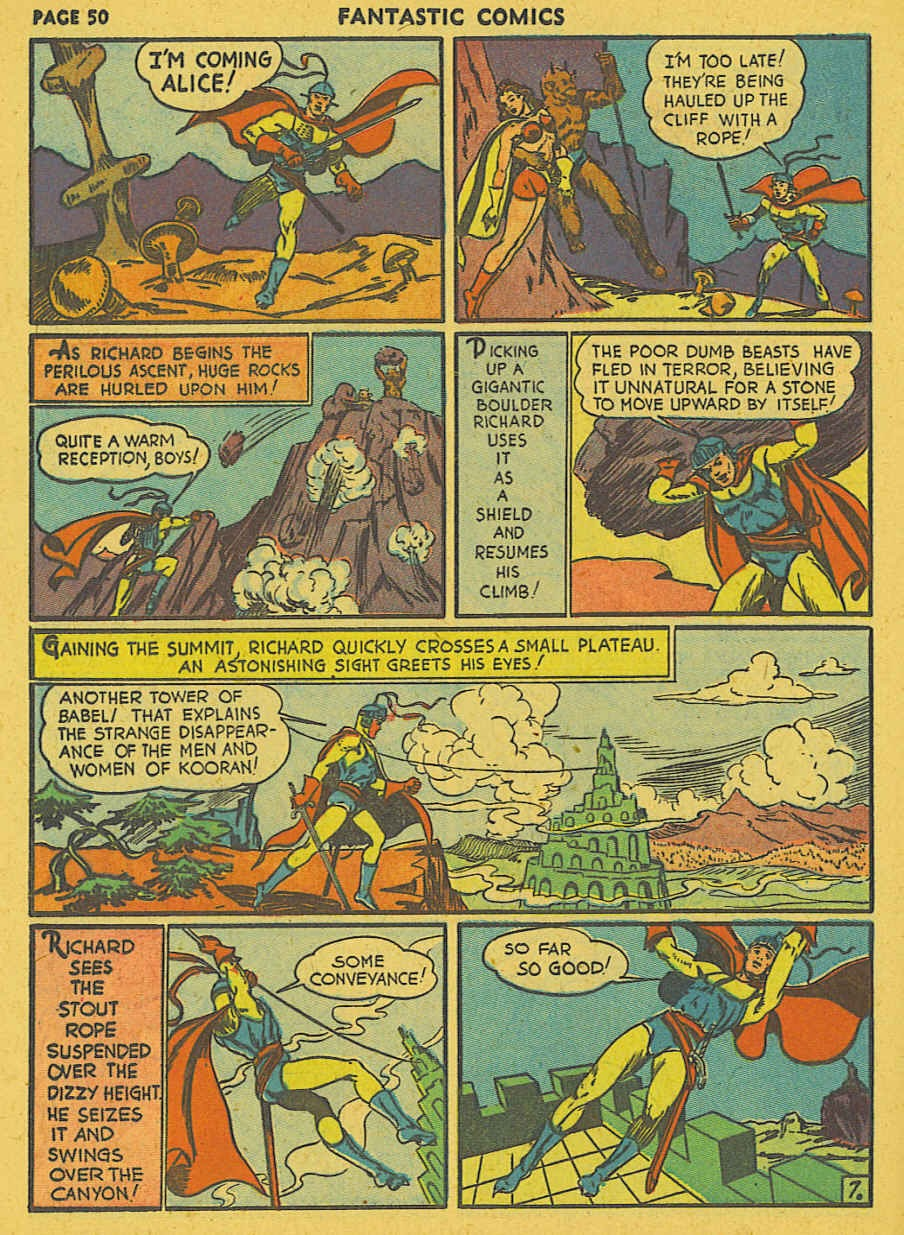 Read online Fantastic Comics comic -  Issue #19 - 41