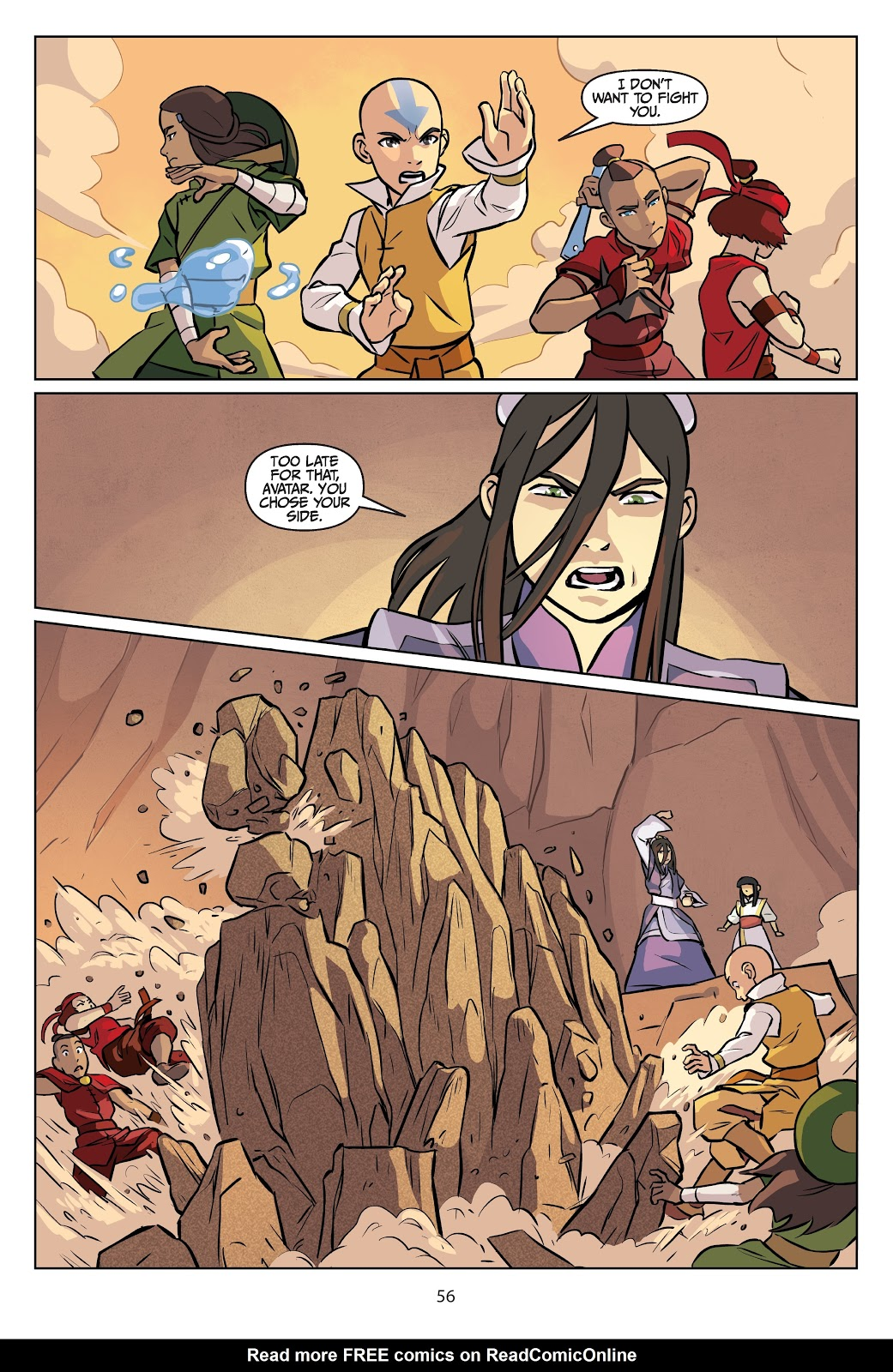 Read online Nickelodeon Avatar: The Last Airbender - Imbalance comic -  Issue # TPB 2 - 57