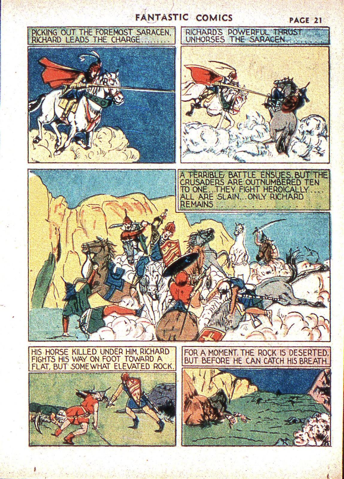 Read online Fantastic Comics comic -  Issue #2 - 23