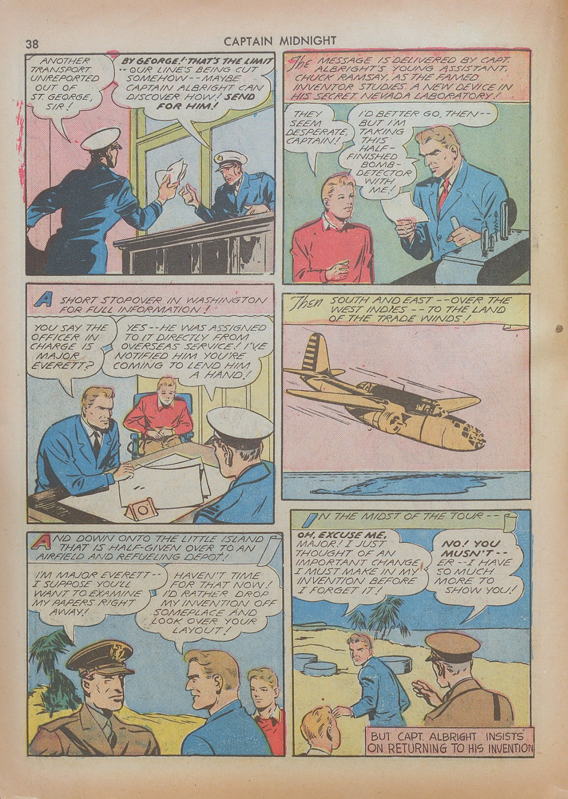 Captain Midnight (1942) issue 7 - Page 38